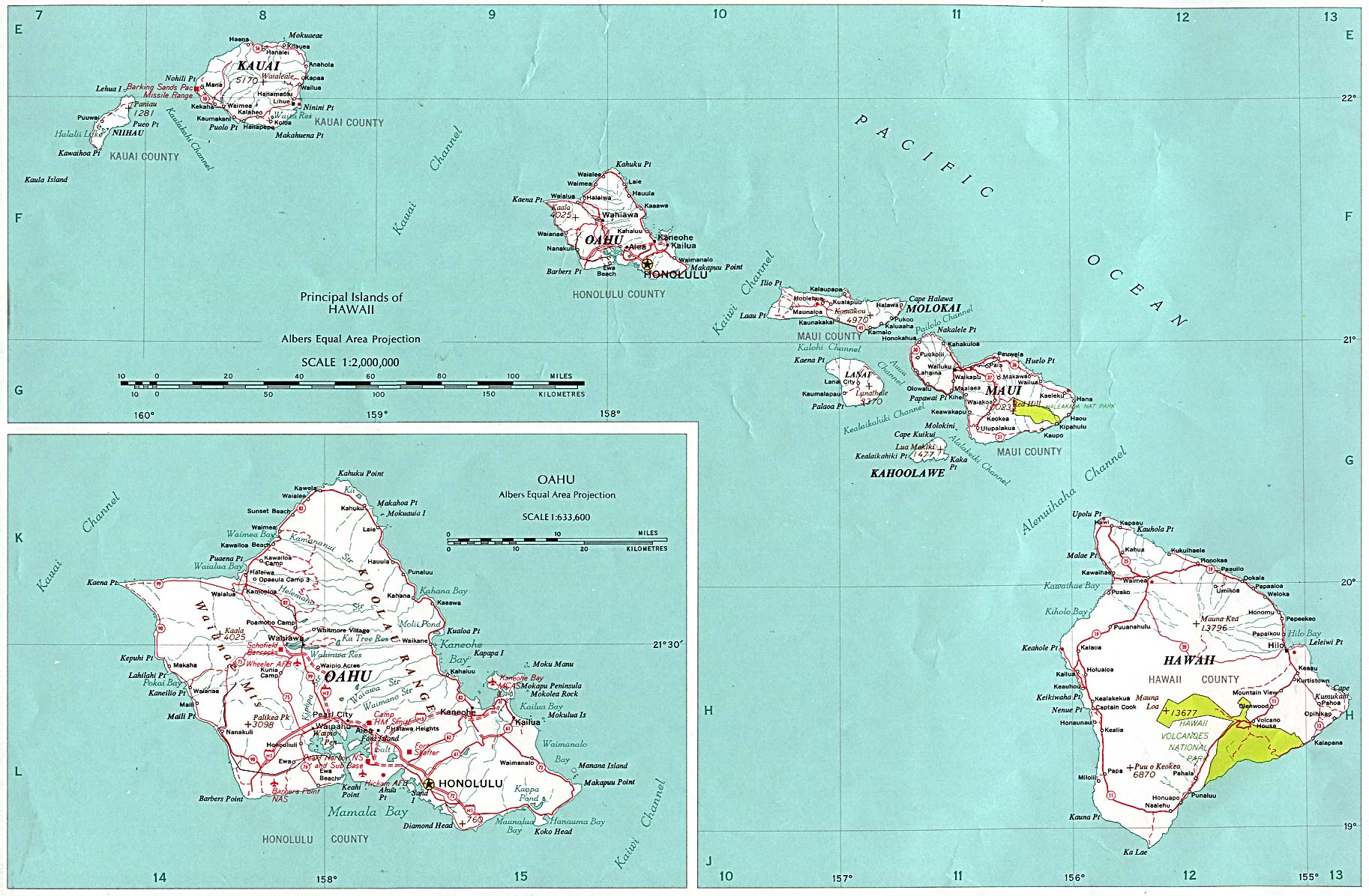 Hawaii Outline Maps And Map Links - Hawaii-on-a-us-map