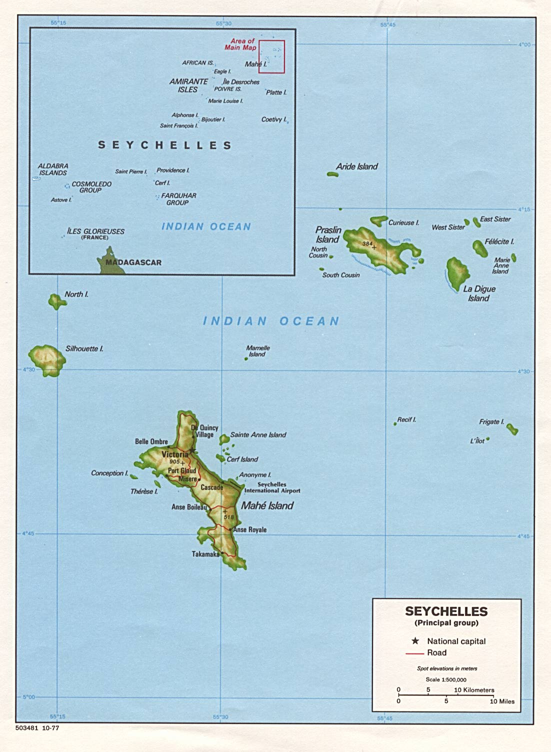 Seychelles Islands On A Map