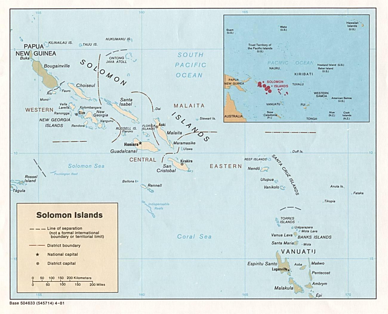 Solomon Islands Maps PerryCastañeda Map Collection UT Library - Solomon islands map