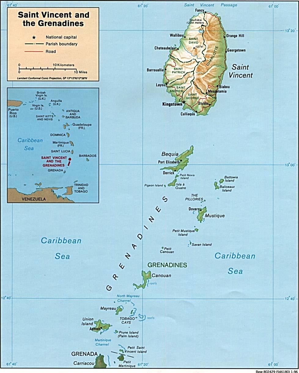 Maps Of Saint Vincent Grenadines