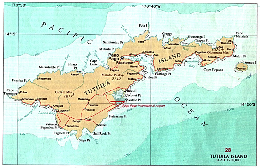 American Samoa Maps Perry Castaneda Map Collection Ut Library Online - Map-of-us-east-coast-islands