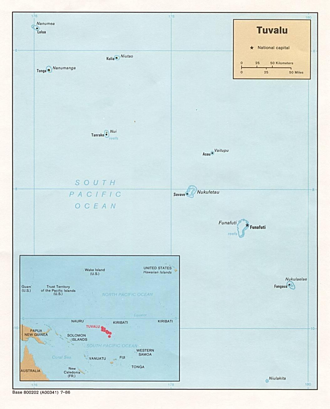 Map of Tuvalu