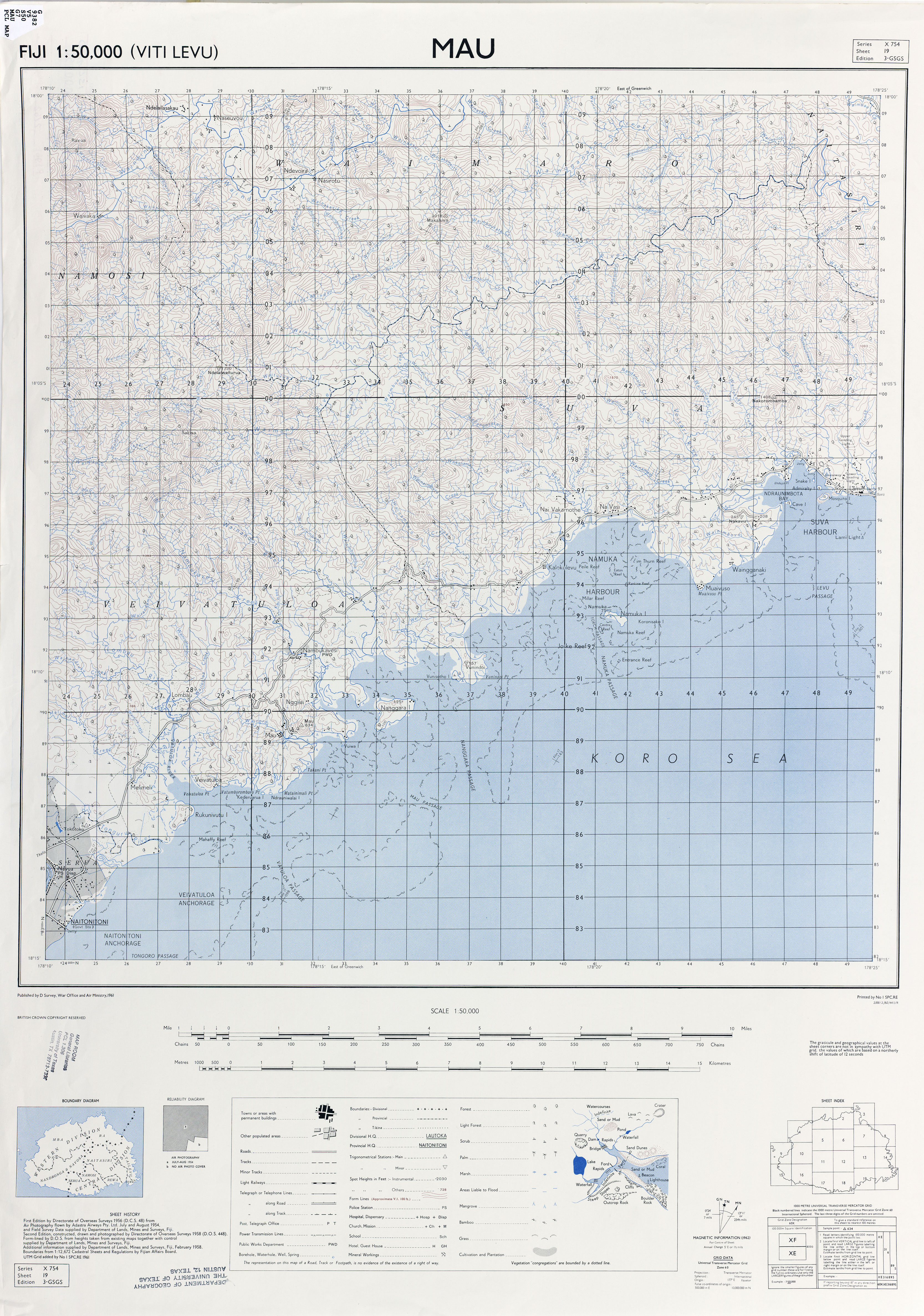 Fiji Maps - Perry-Castañeda Map Collection - UT Library Online
