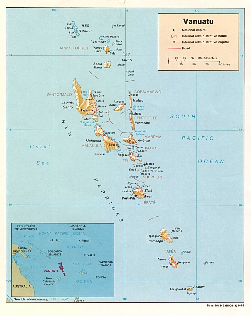 Australia And The Pacific Maps PerryCastañeda Map Collection - Vanuatu map download
