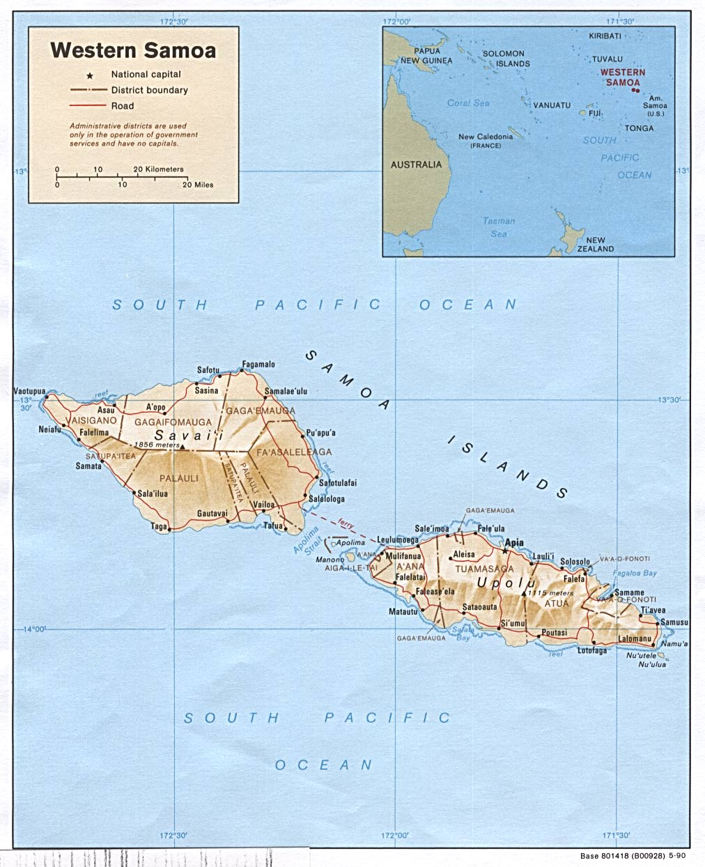 Samoa Maps Perry Casta eda Map Collection UT Library Online