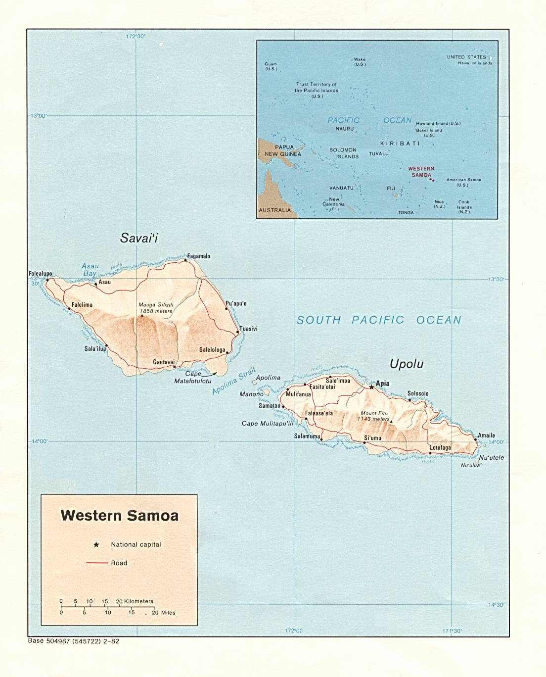 Samoa Maps PerryCastaeda Map Collection UT Library Online