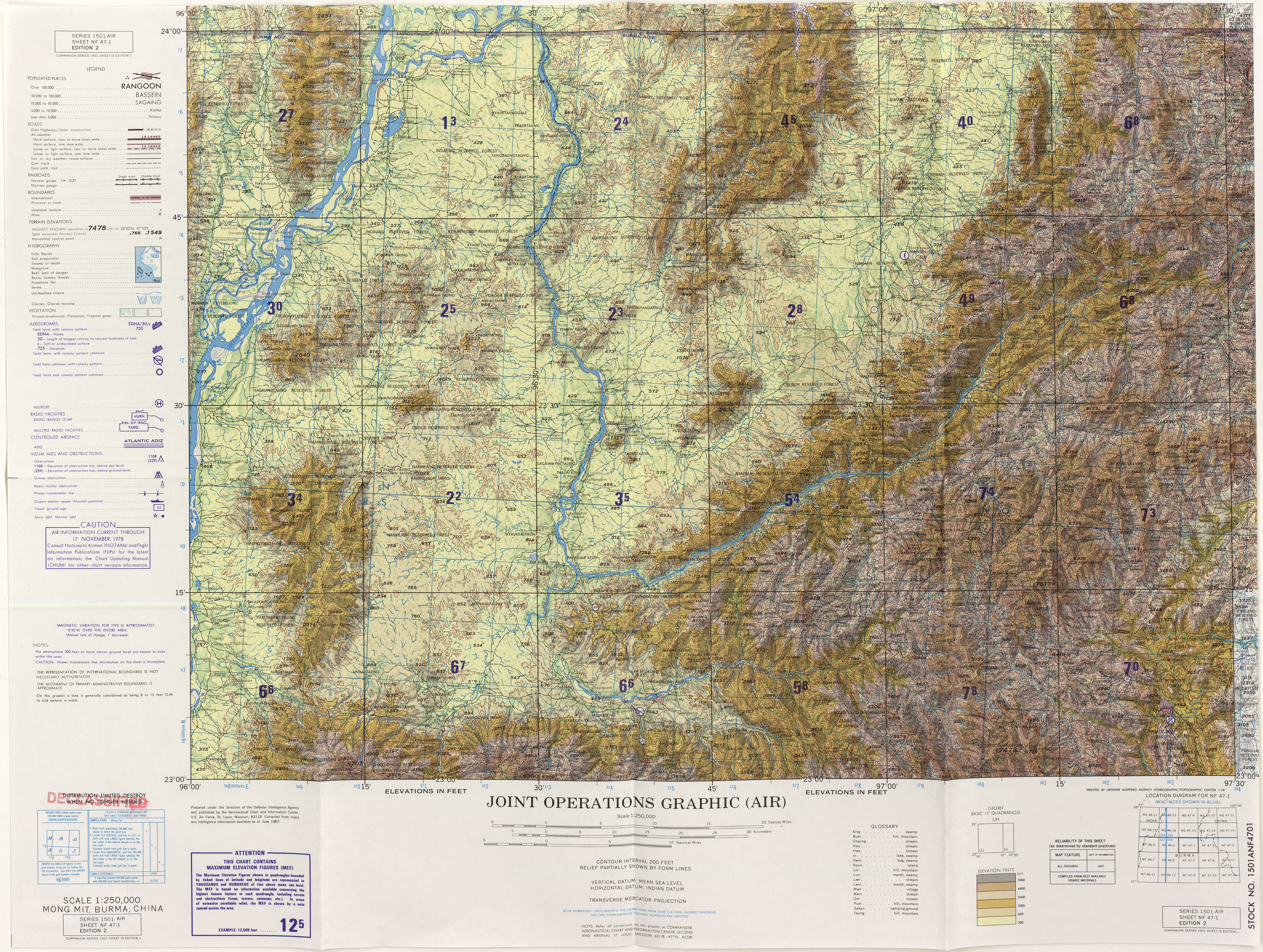 Burma Joint Operations Graphic PerryCastañeda Map Collection - Burma clickable map
