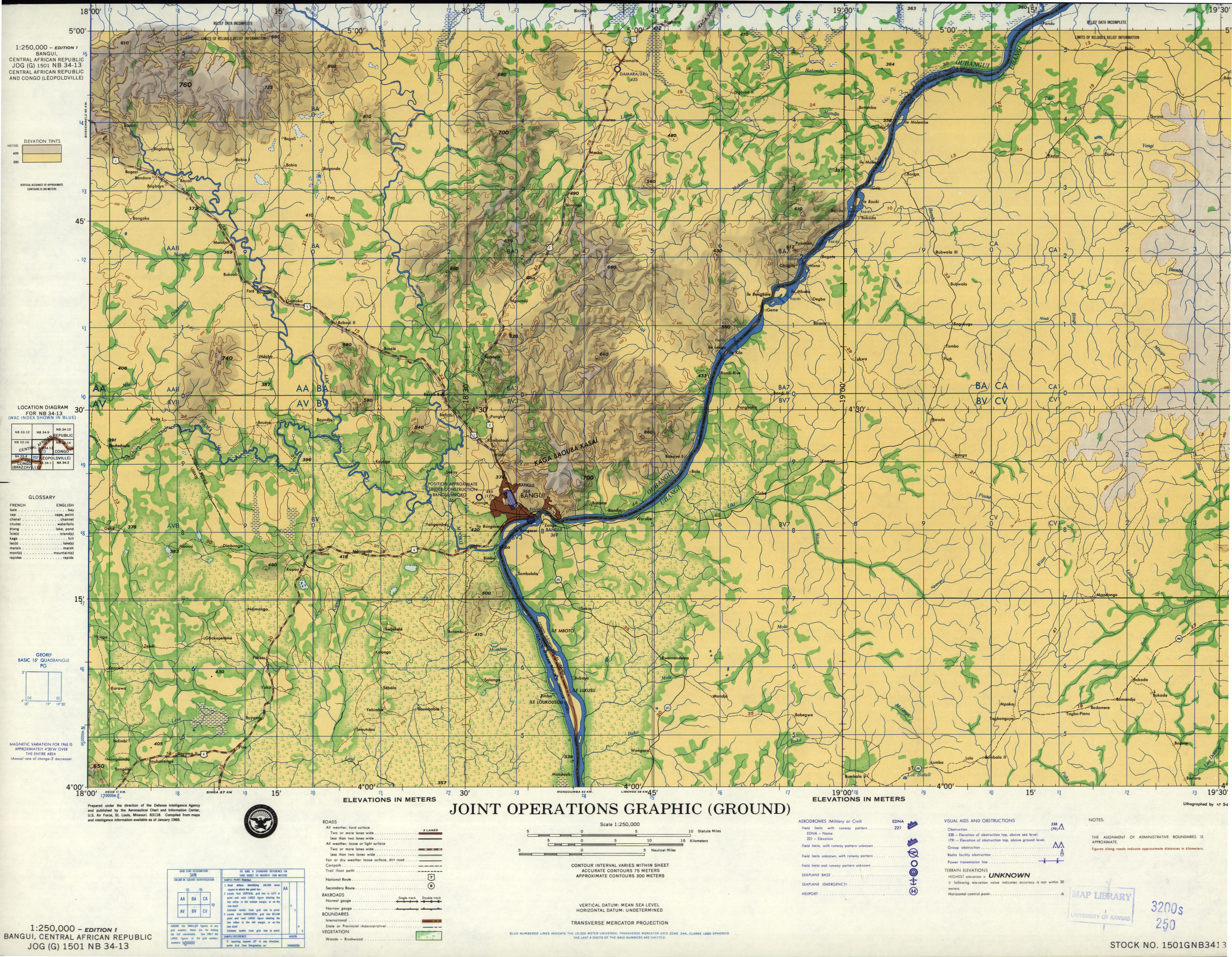 Central Africa Joint Operations Graphic - Perry-Castañeda Map ...