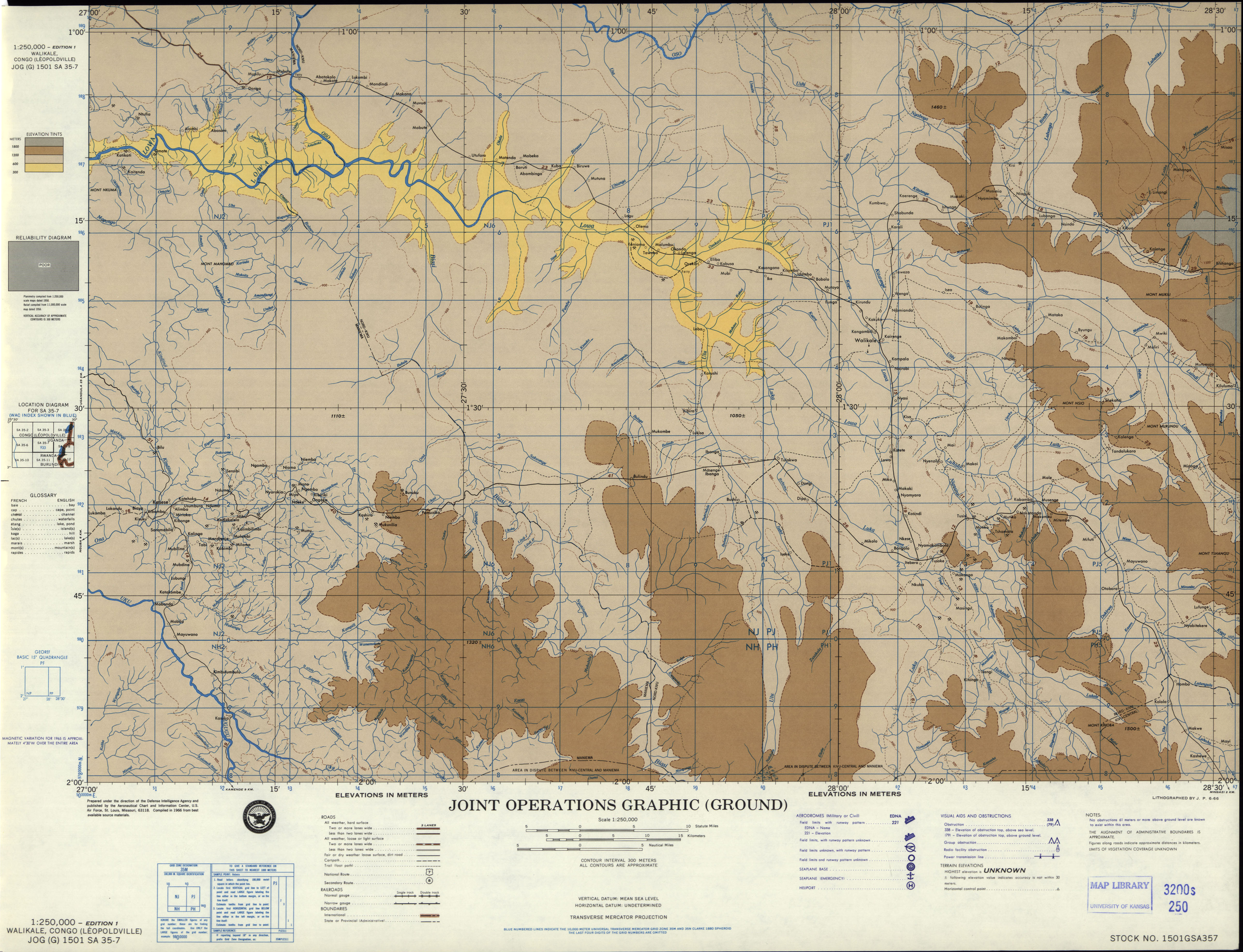 Central Africa Joint Operations Graphic  PerryCastaeda Map