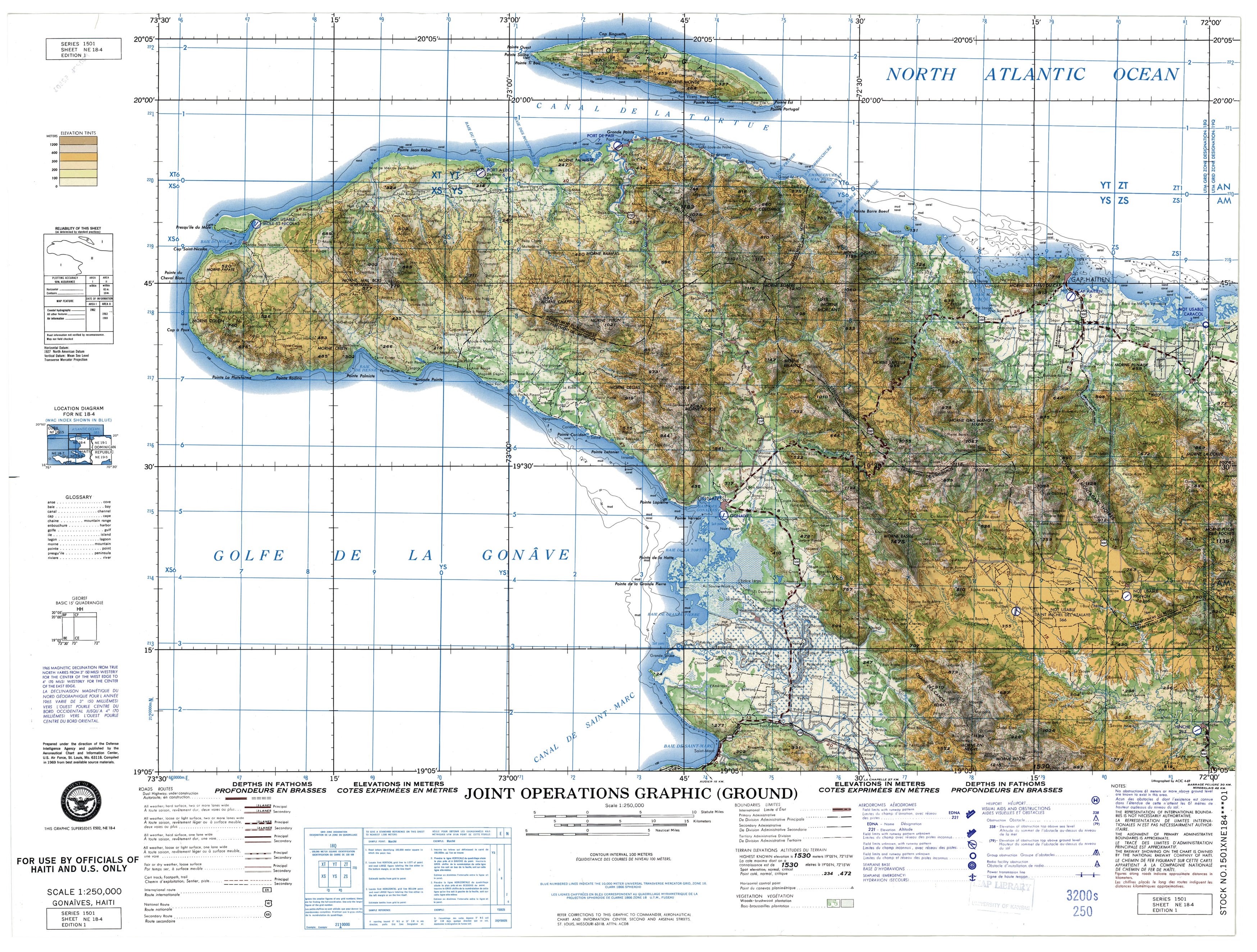 Haiti Joint Operations Graphic PerryCastañeda Map Collection - Map of us and haiti