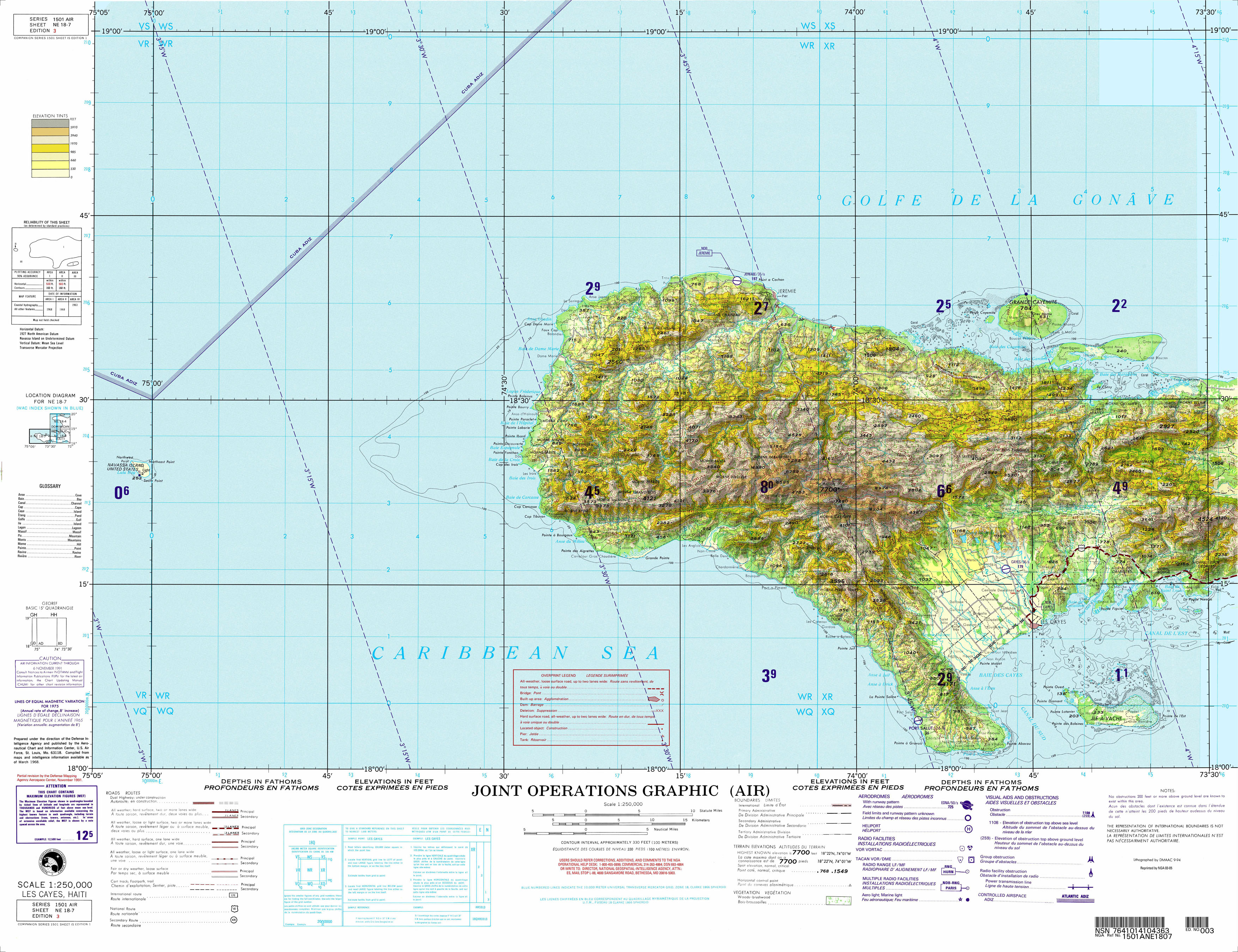 Haiti Joint Operations Graphic PerryCastañeda Map Collection - Haiti clickable map