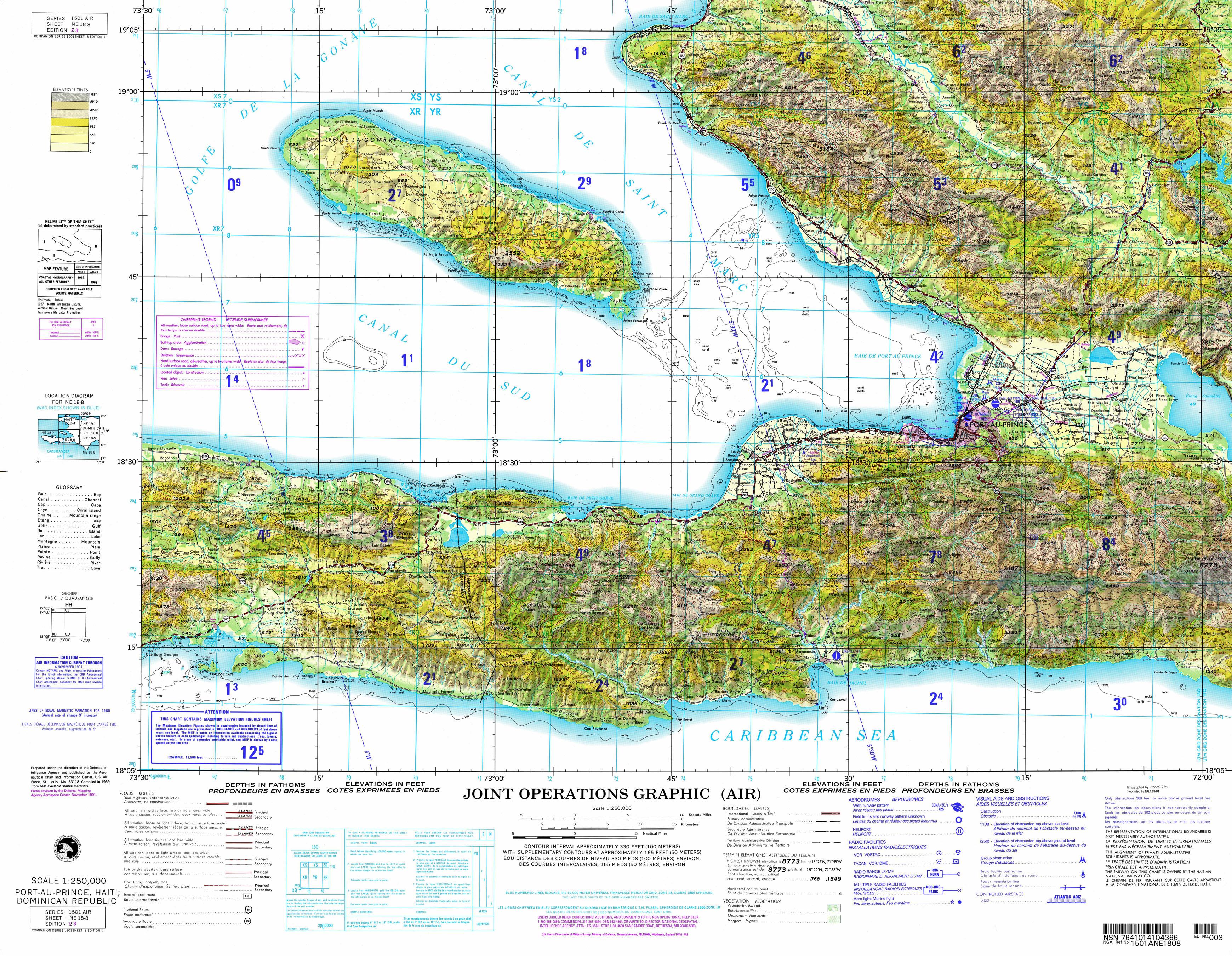 Haiti JOG-A Index Map - Perry-Castañeda Map Collection - UT ...
