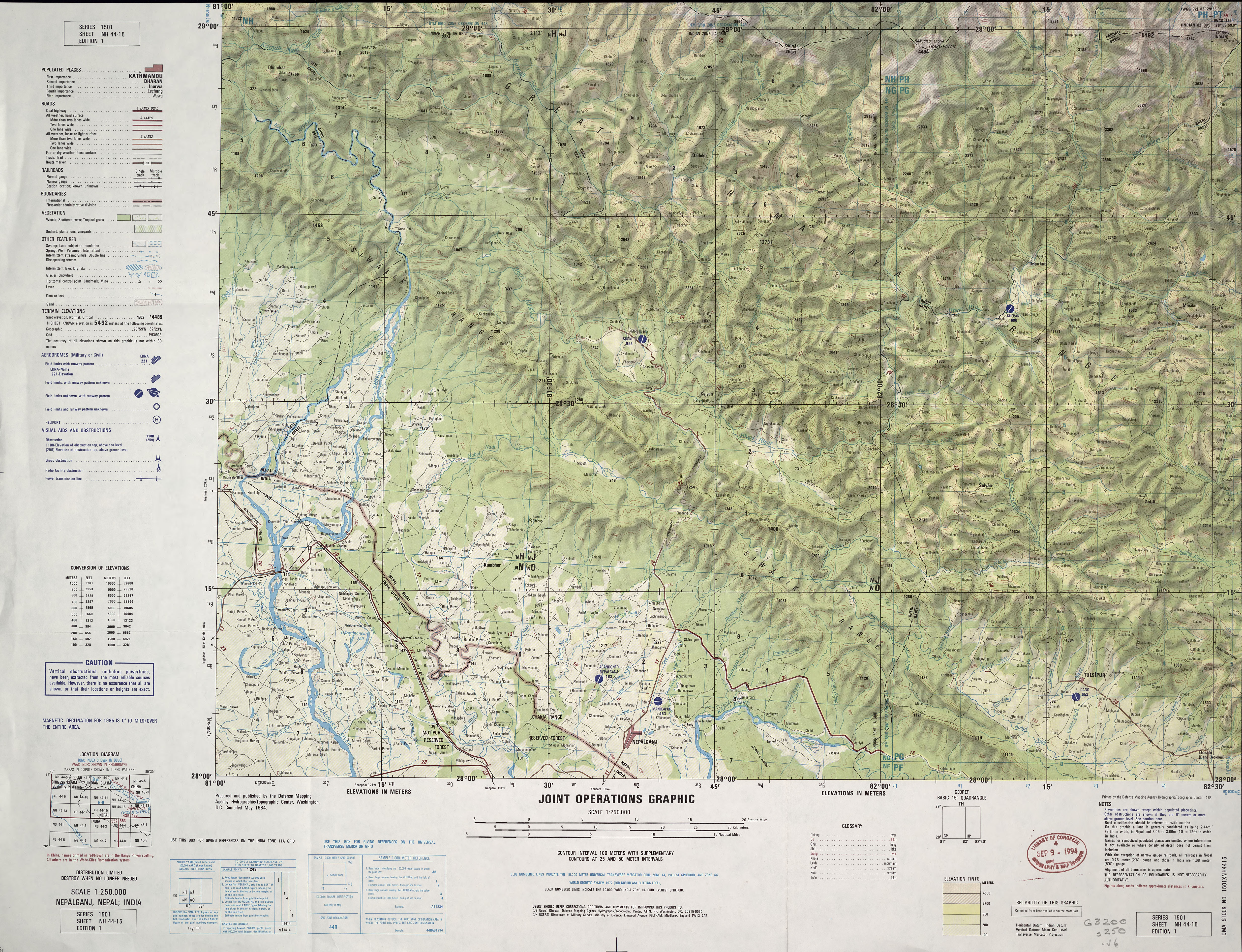 India Joint Operations Graphic Perry Casta±eda Map Collection UT