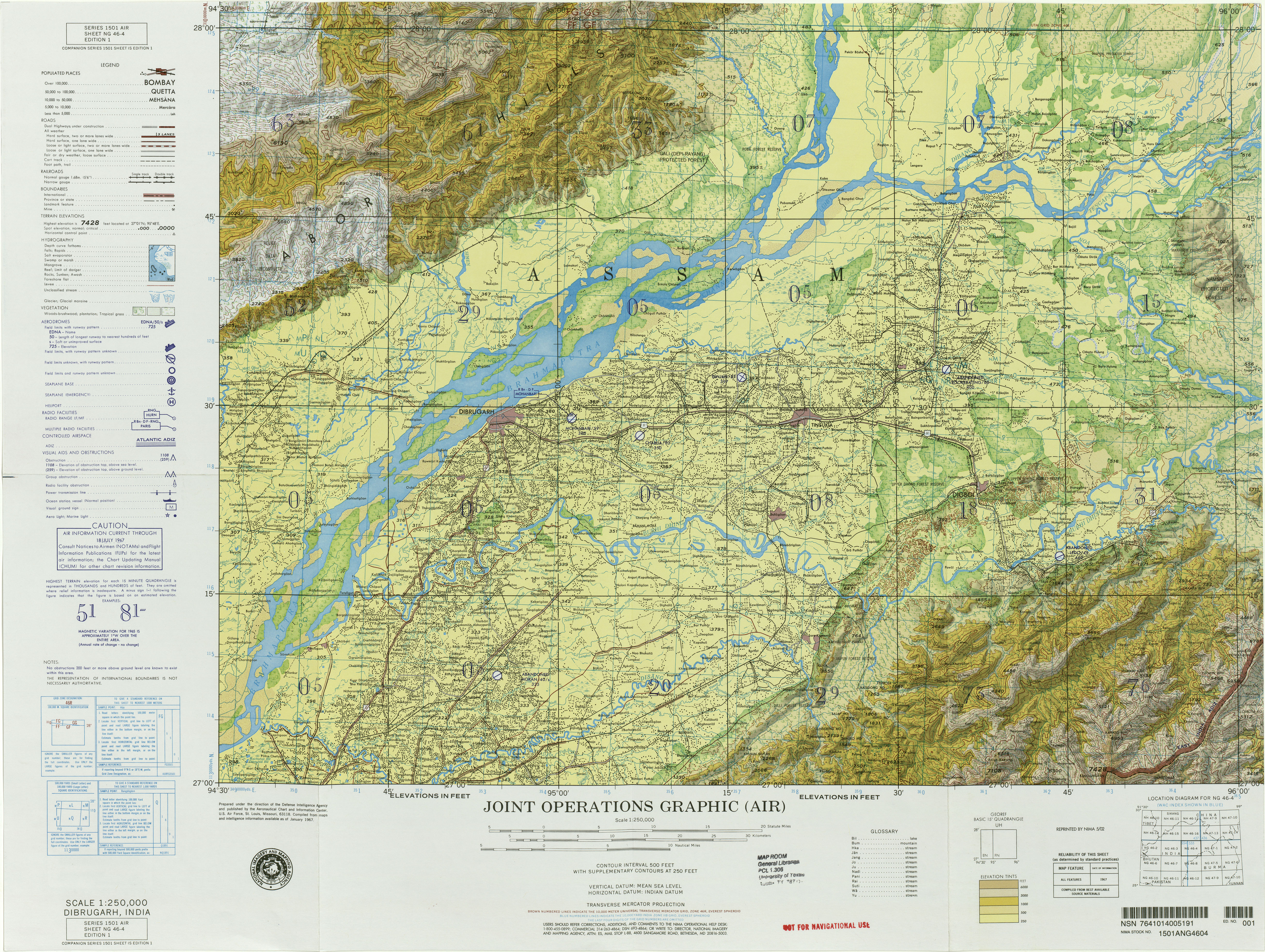 India Joint Operations Graphic PerryCastañeda Map Collection - Burma clickable map