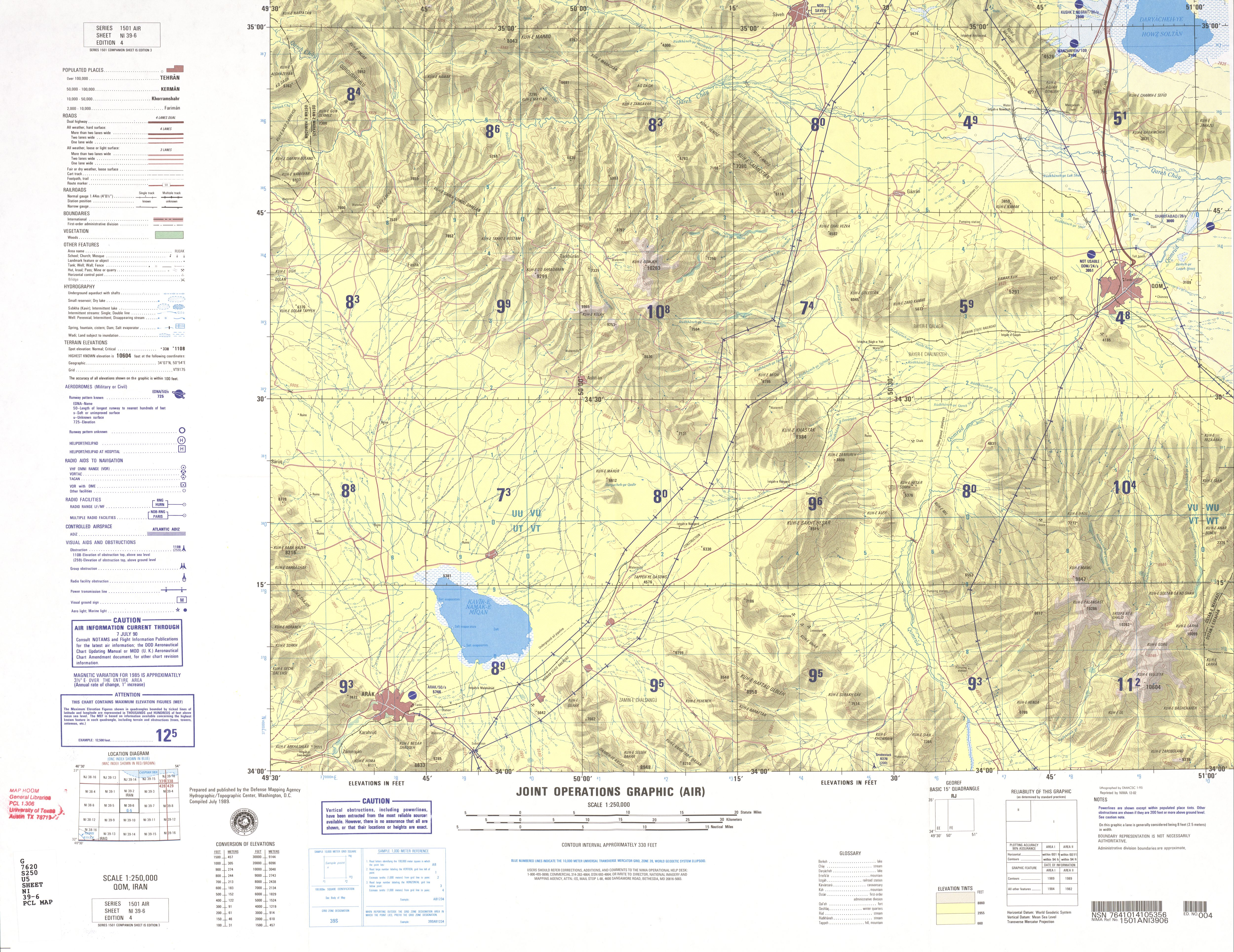 Iran Joint Operations Graphic PerryCastaeda Map Collection UT