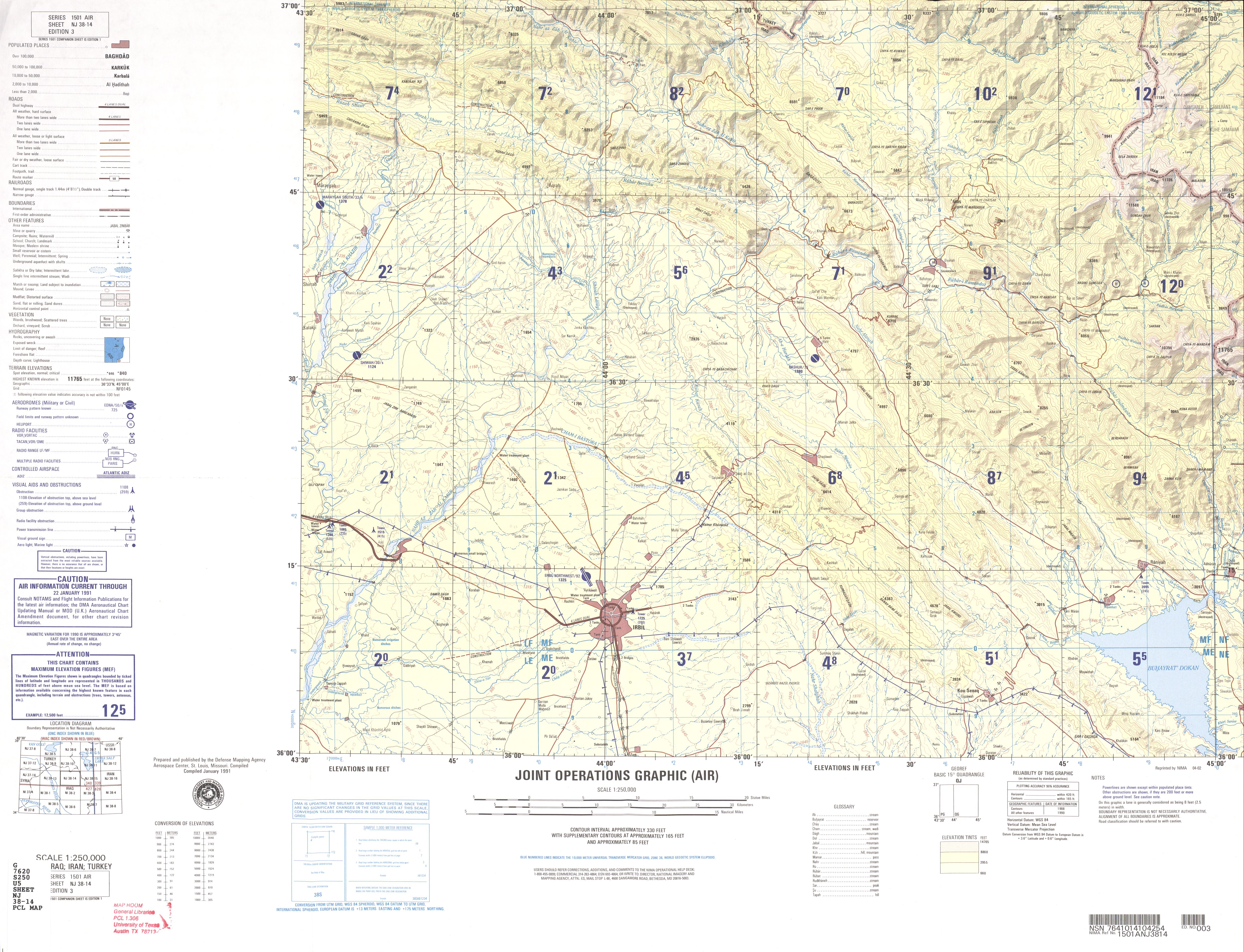 Iraq joint operations graphic perry castaeda map collection nj 38 14 irbil iraq iran sciox Gallery