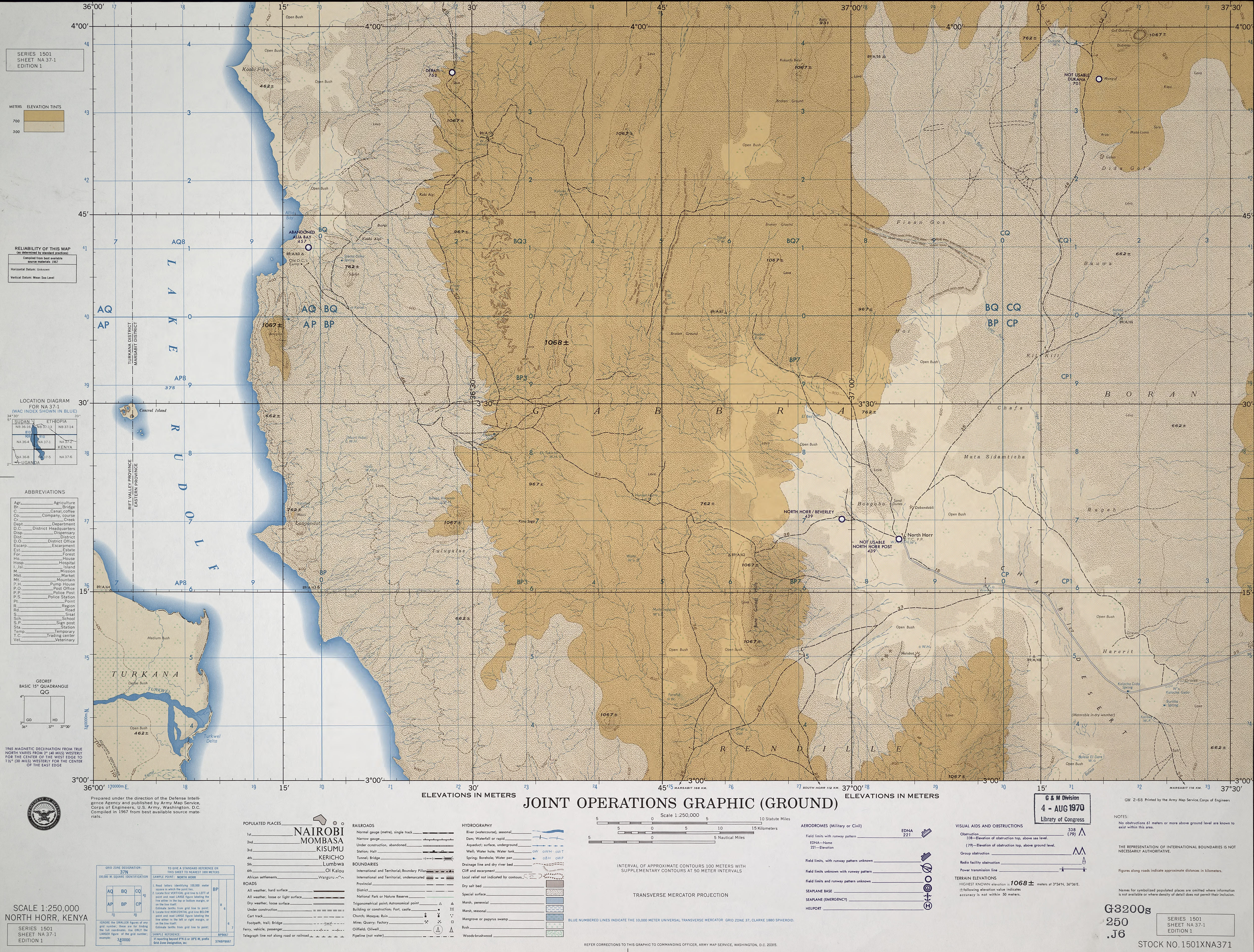 Image of: East Africa Joint Operations Graphic Perry Castaneda Map Collection Ut Library Online
