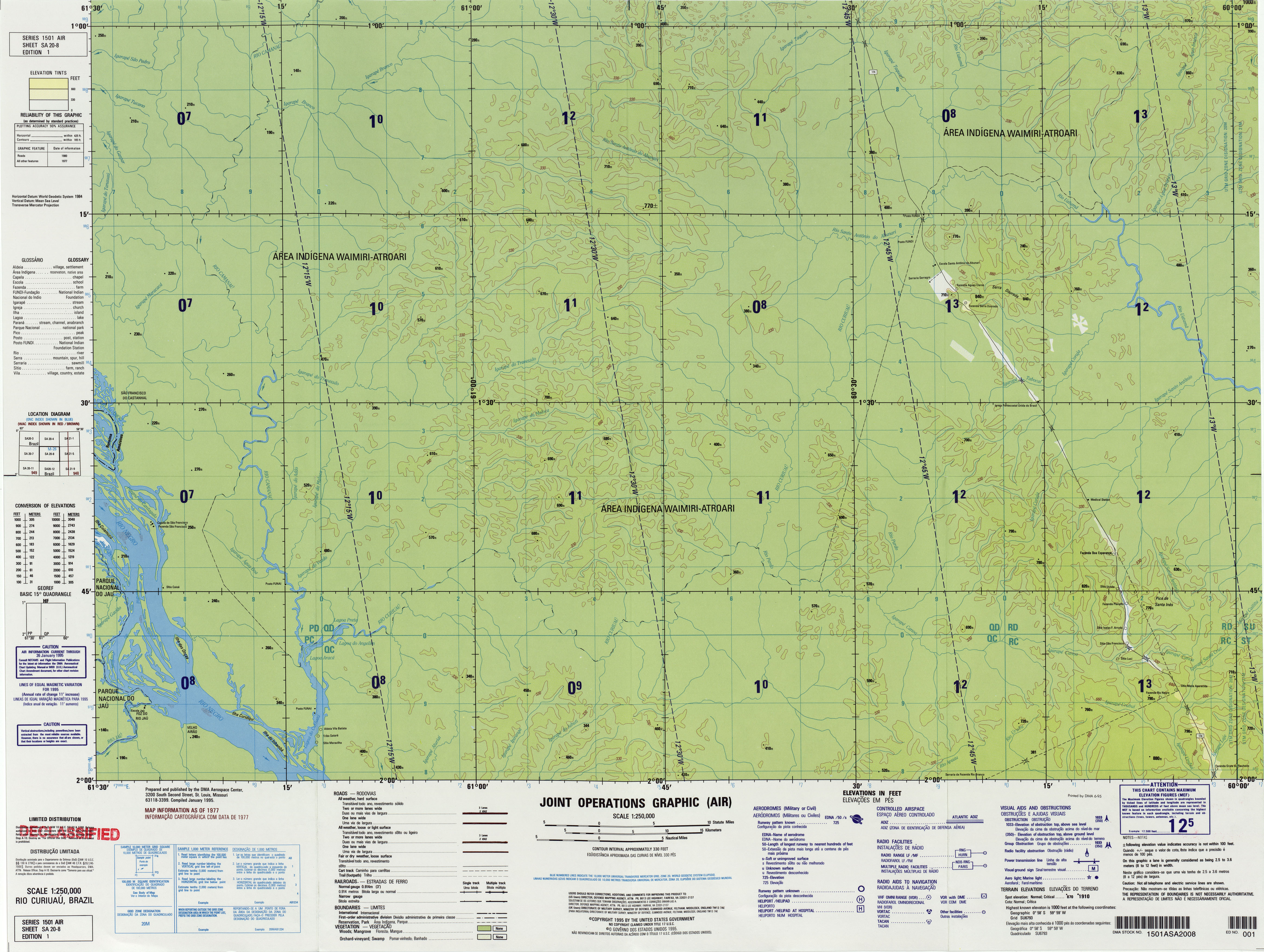 Brazil Jog Index Map Perry Casta 241 Eda Map Collection Ut Library Online