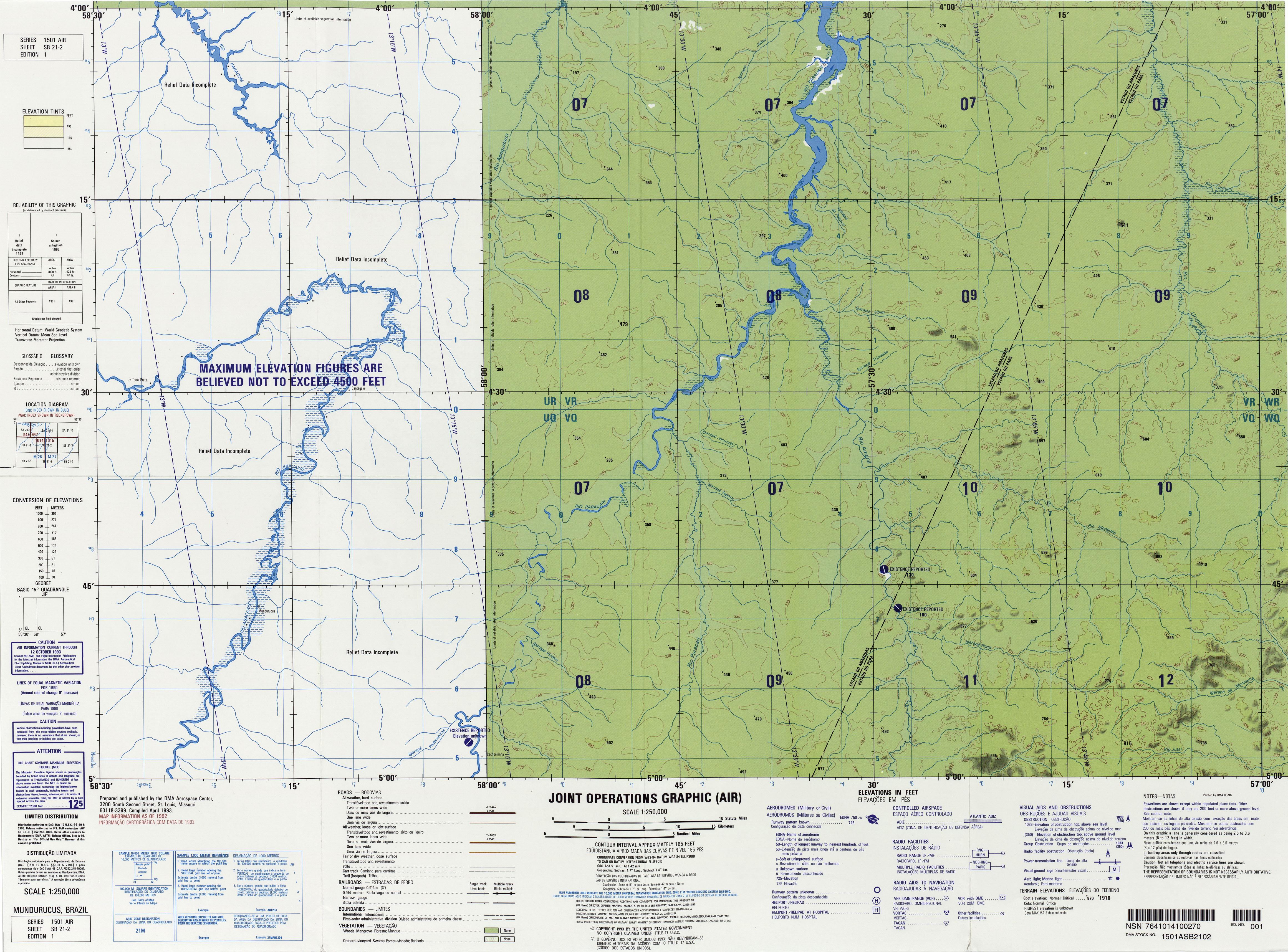 Brazil Jog Index Map Perry Casta 241 Eda Map Collection Ut
