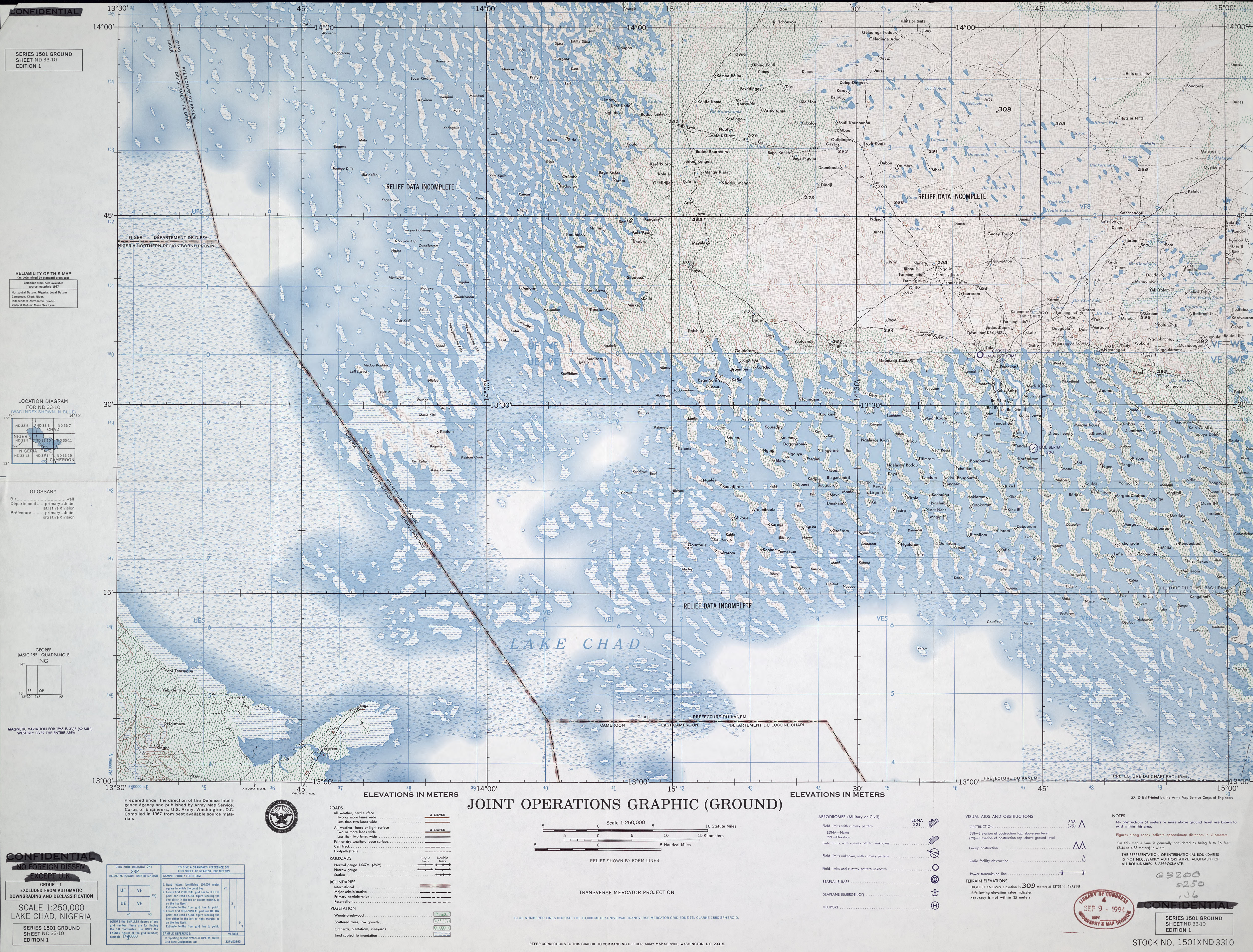 Chad Joint Operations Graphic - Perry-Castañeda Map Collection ...