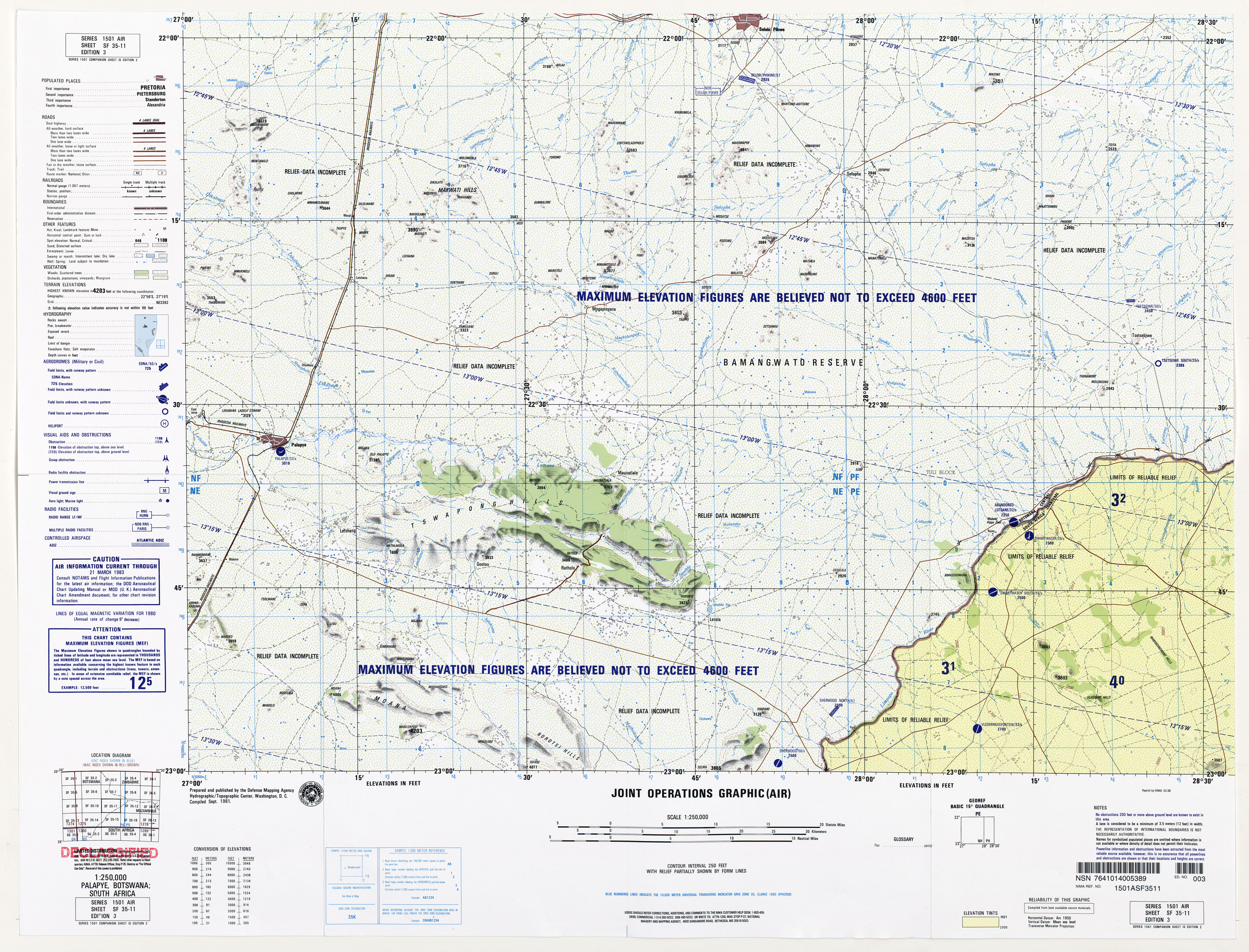 Botswana South Africa Map.Southern Africa Joint Operations Graphic Perry Castaneda Map