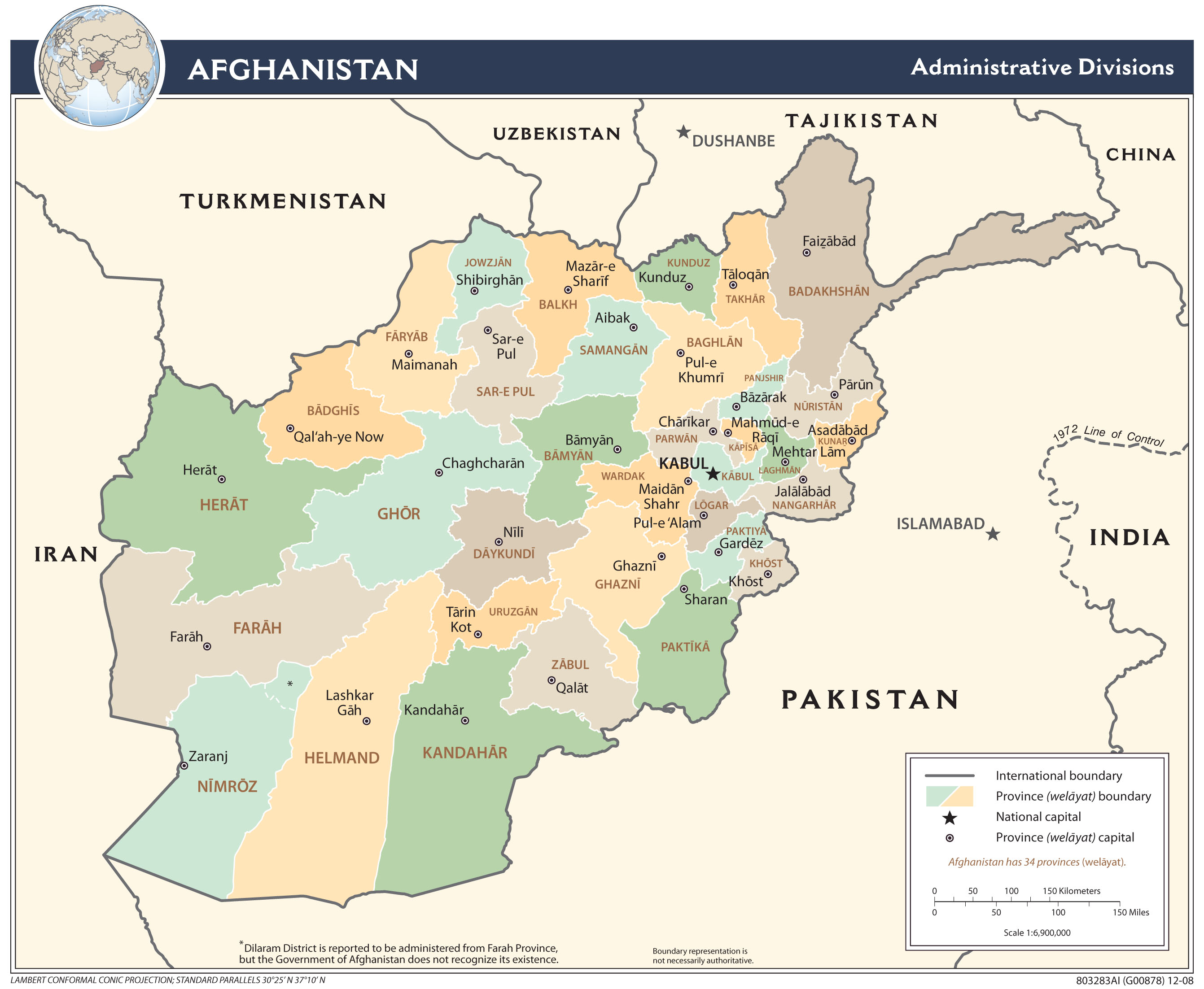 Afghanistan Maps PerryCastañeda Map Collection UT Library Online - Map of is