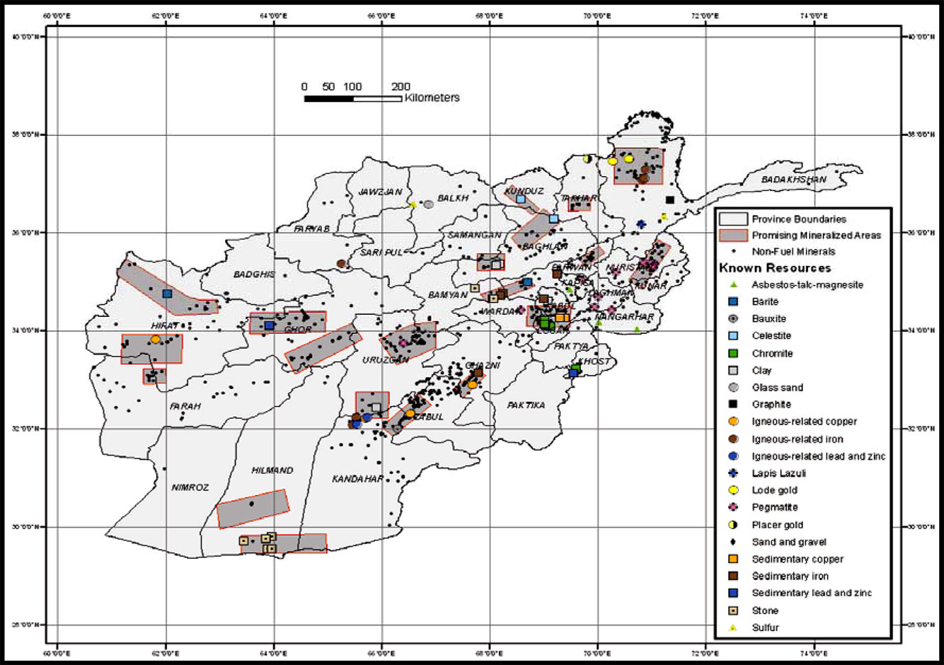 afghanistan known resources