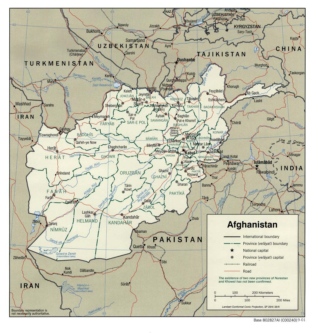 Map Of Afghanistan - Afghanistan map