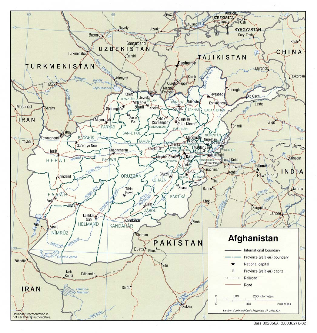 Afghanistan Maps PerryCastañeda Map Collection UT Library Online - Afghanistan political map
