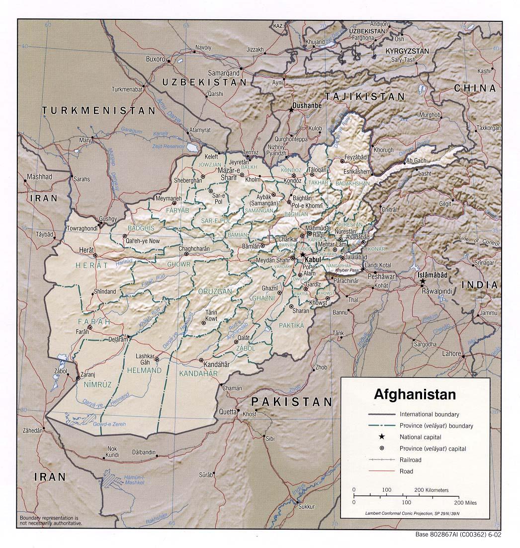 Karte Afghanistan Provinzen.Afghanistan Regionen Provinzen Hauptorte Einwohner Flache