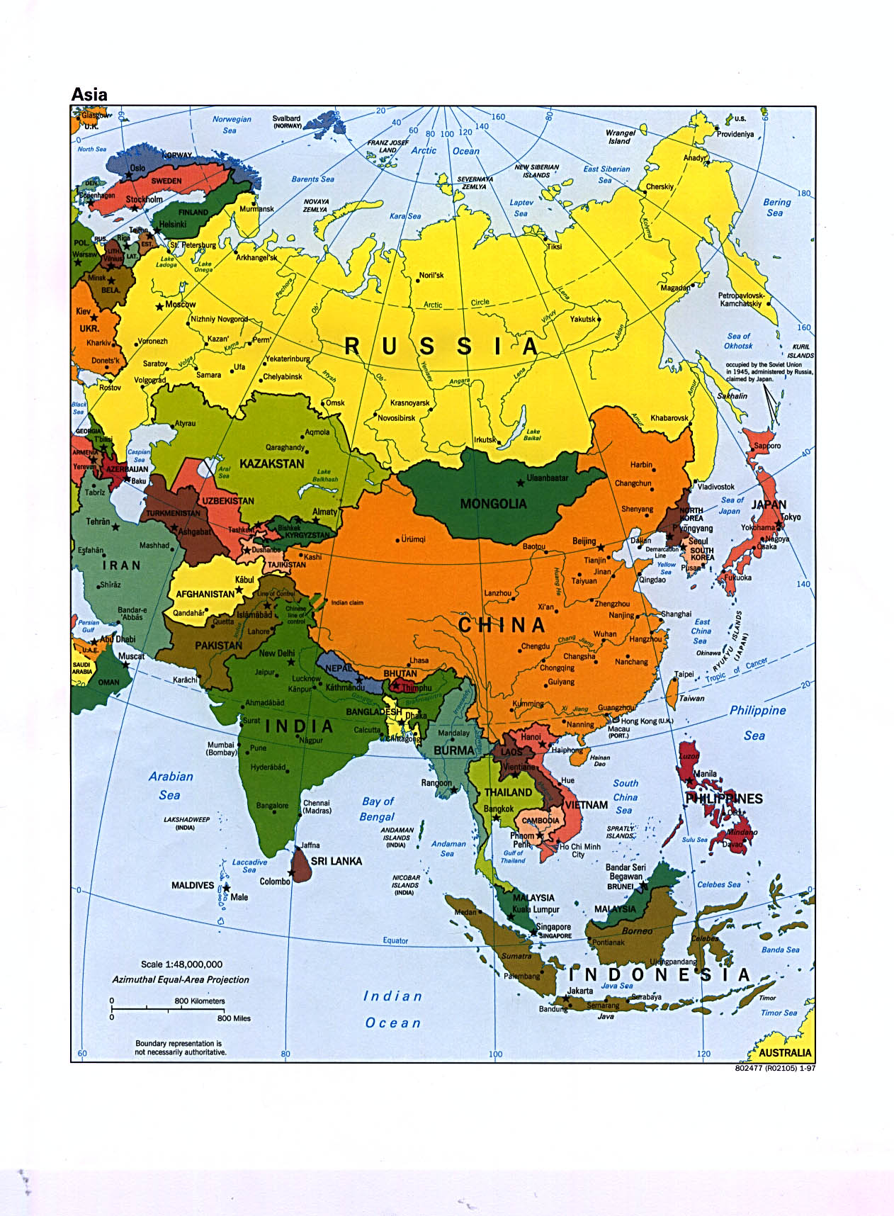 Asia Maps PerryCastañeda Map Collection UT Library Online - Asia political map