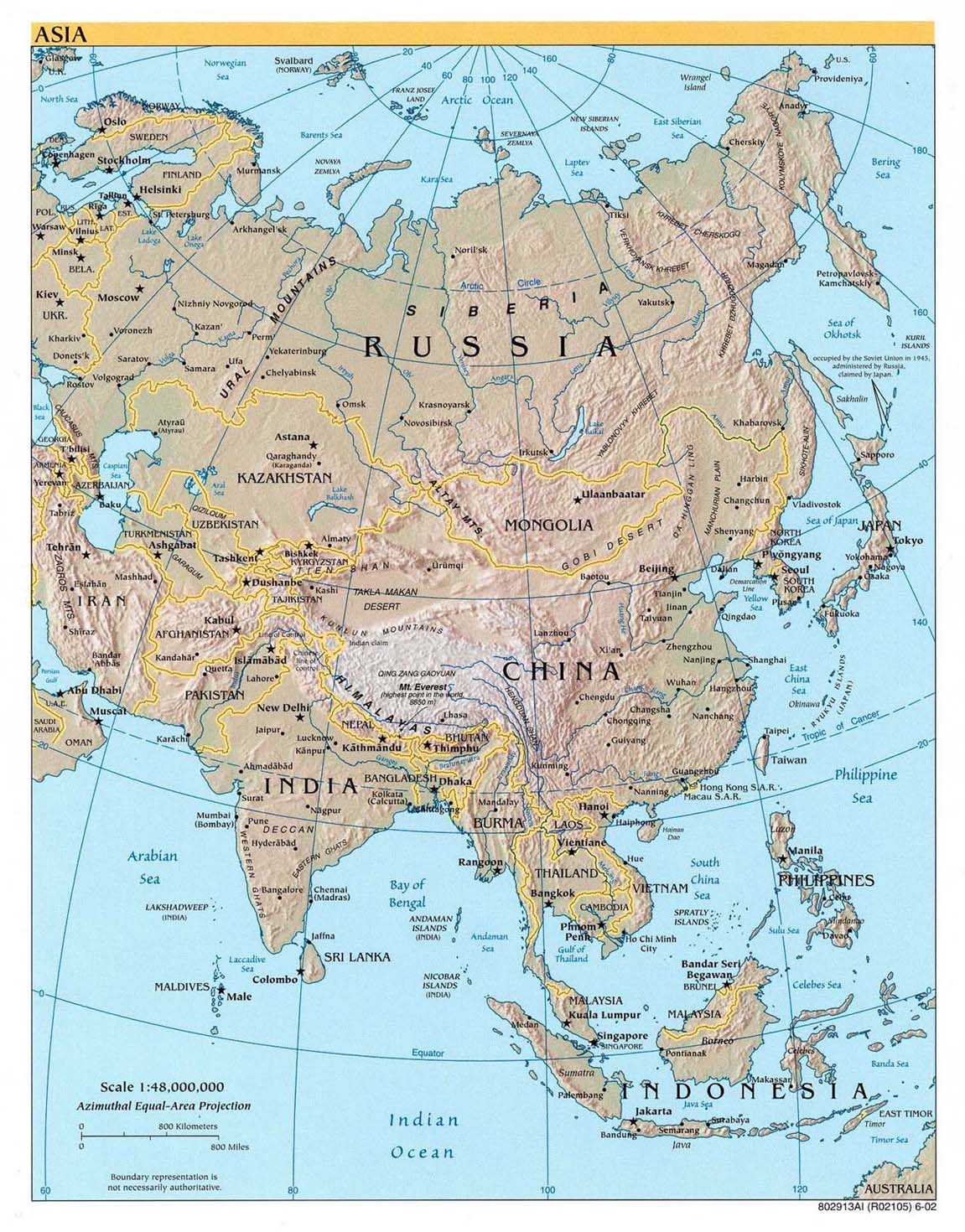 Indonesien Karte Physisch.Landkarte Asien Landkarten Archiv Kontinent Asien Download