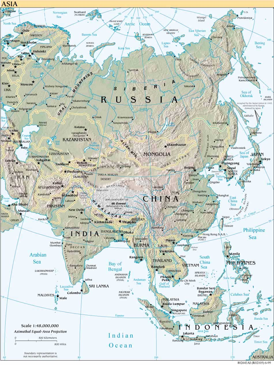 Index Of Maps Middle East And Asia