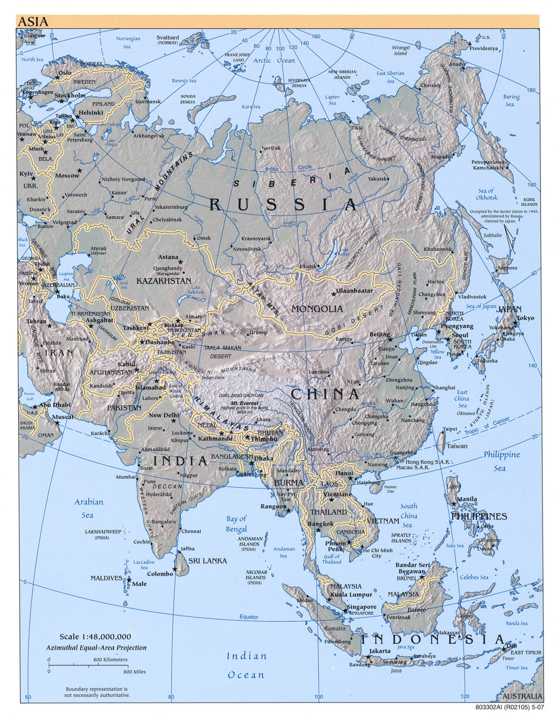 asia political asia reference map