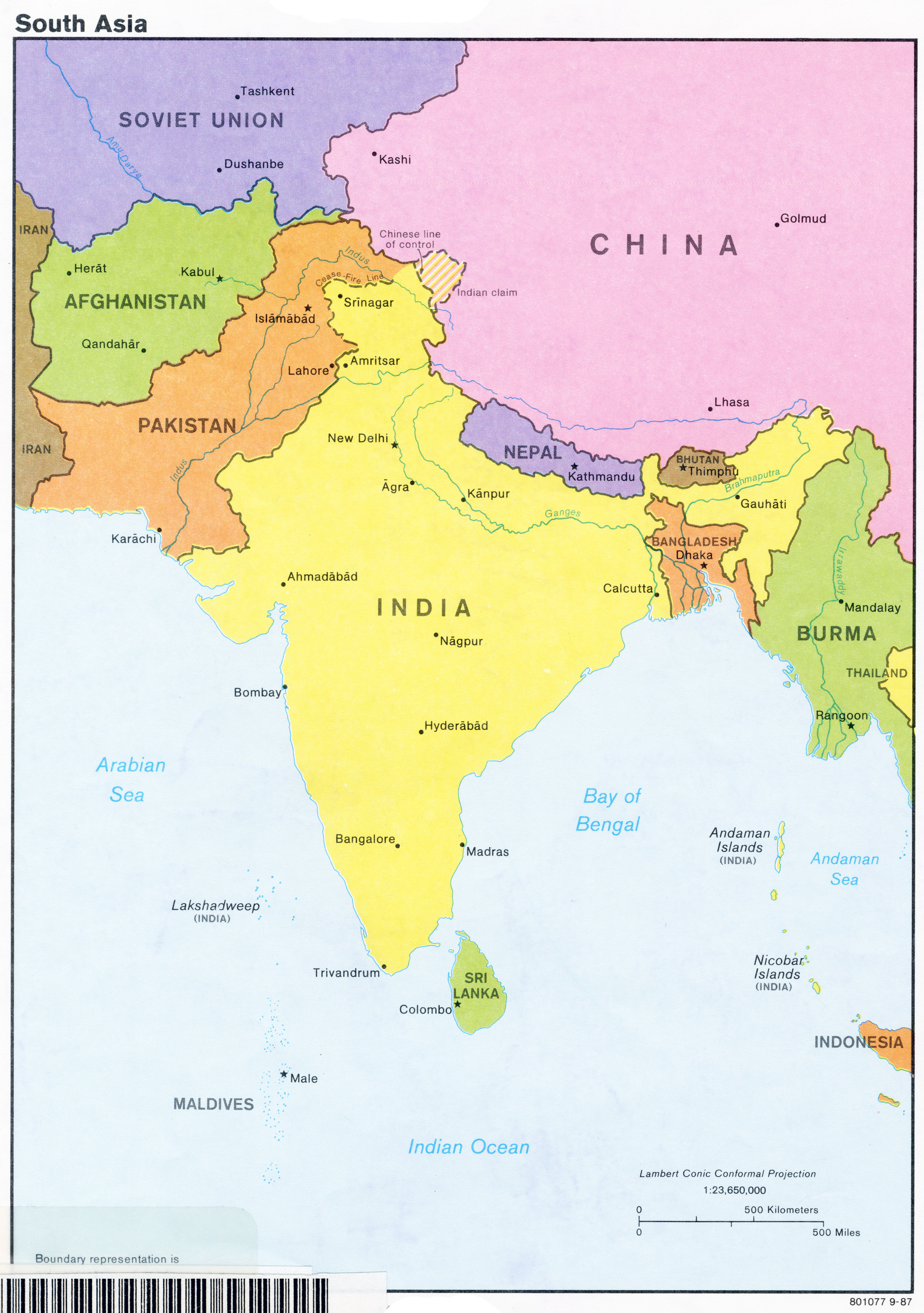Maps Update 1204940 Southern Asia Map Southern Asia Political Map 78 Re