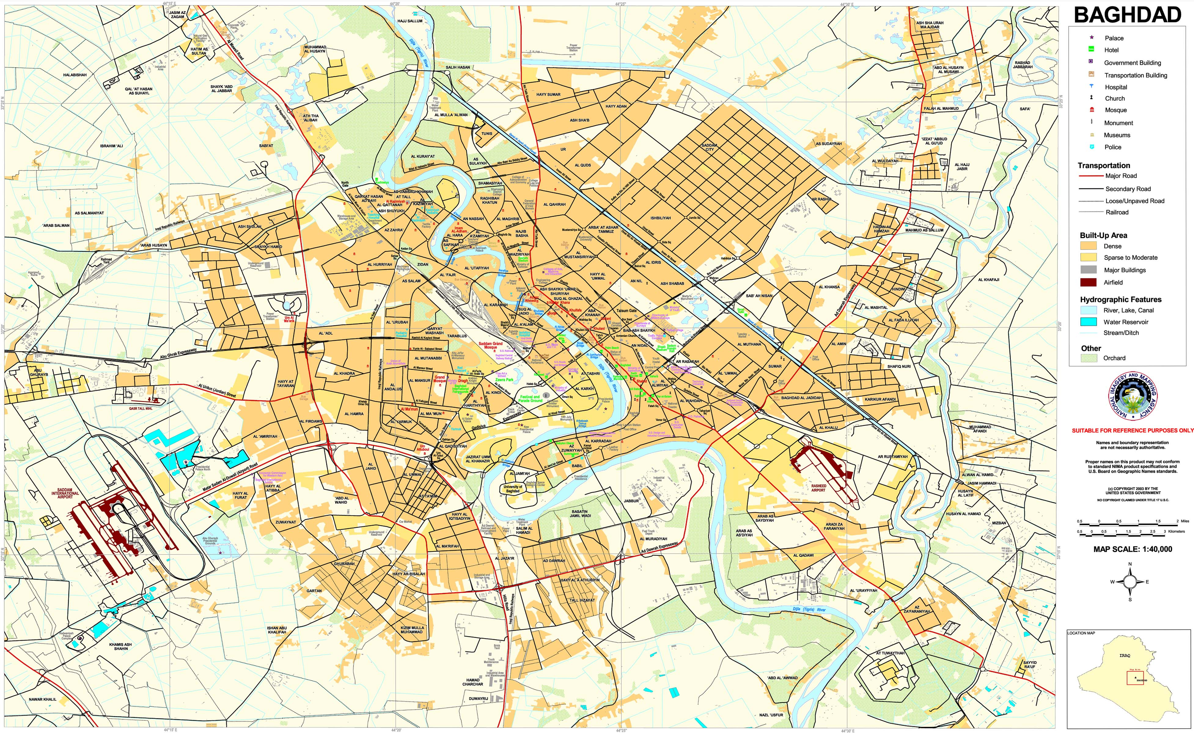 Baghdad Neighborhoods Map 1