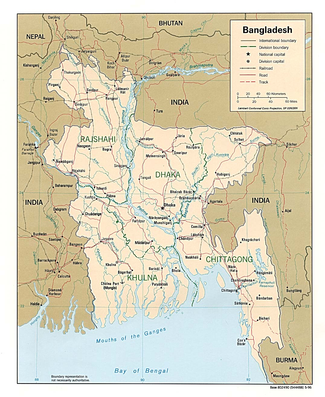 Bangladesh Maps PerryCastañeda Map Collection UT Library Online - Map of bangladesh