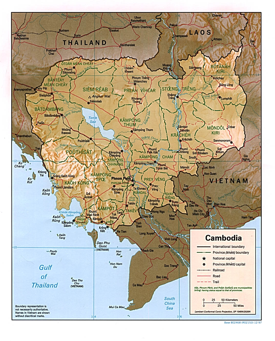 Cambodia Maps - Perry-Castañeda Map Collection - UT Liry Online on