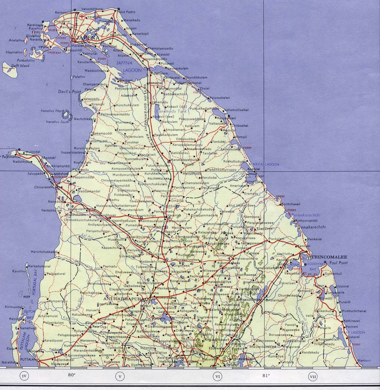 Sri Lanka Maps PerryCastañeda Map Collection UT Library Online - Map us 81