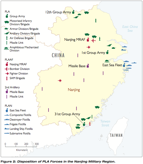 china military disposition of pla forces in nanjing military region