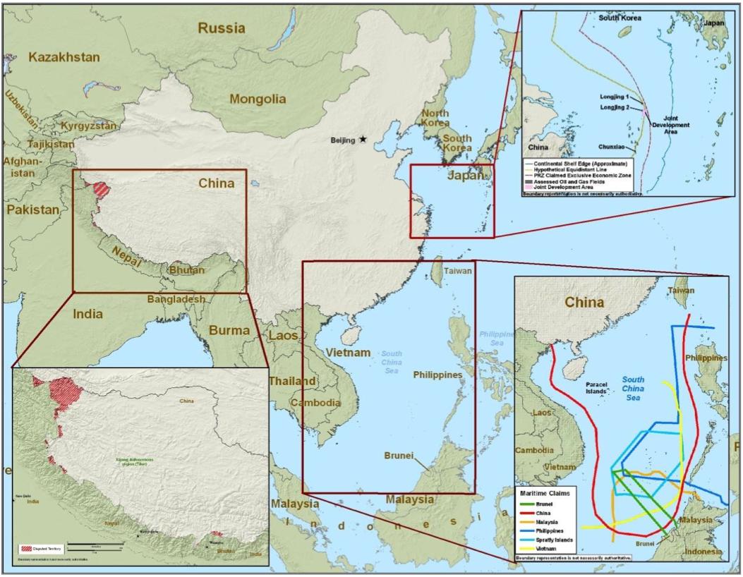 china military disputed territories