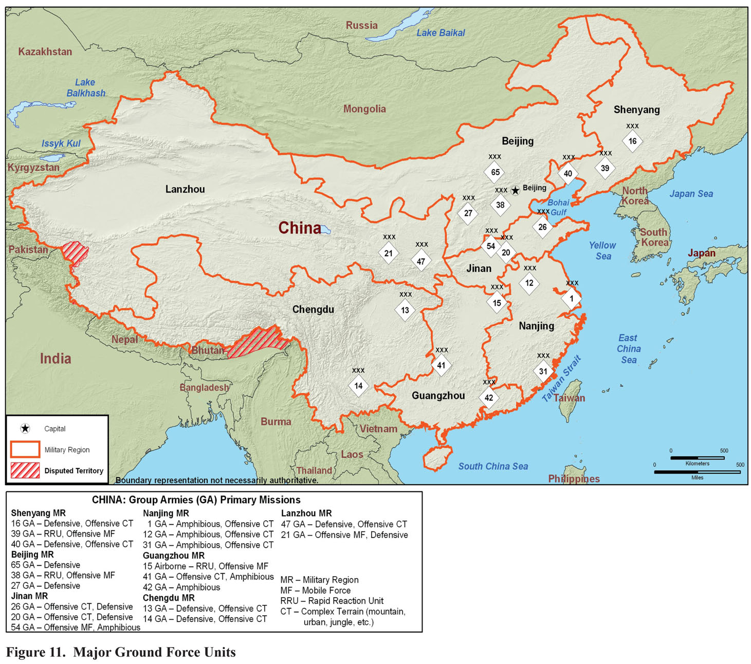 Military Power of the People's Republic of China 2008 Maps   Perry