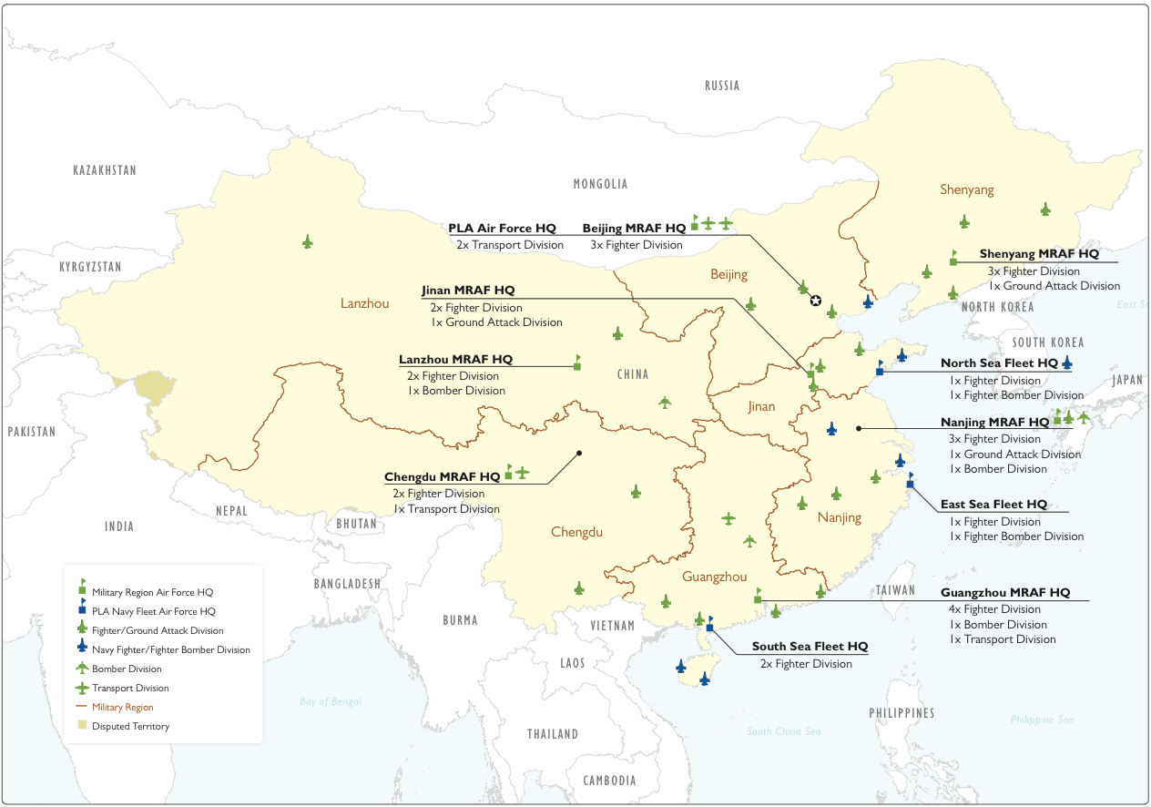 china military major air and naval units