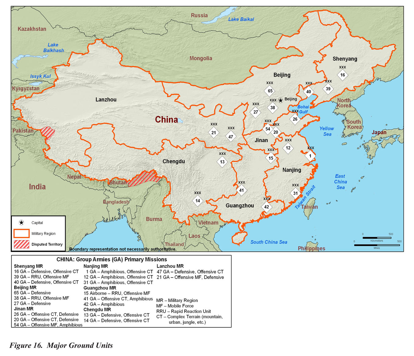 Military Power Of The Peoples Republic Of China Maps Perry - Peoples republic map