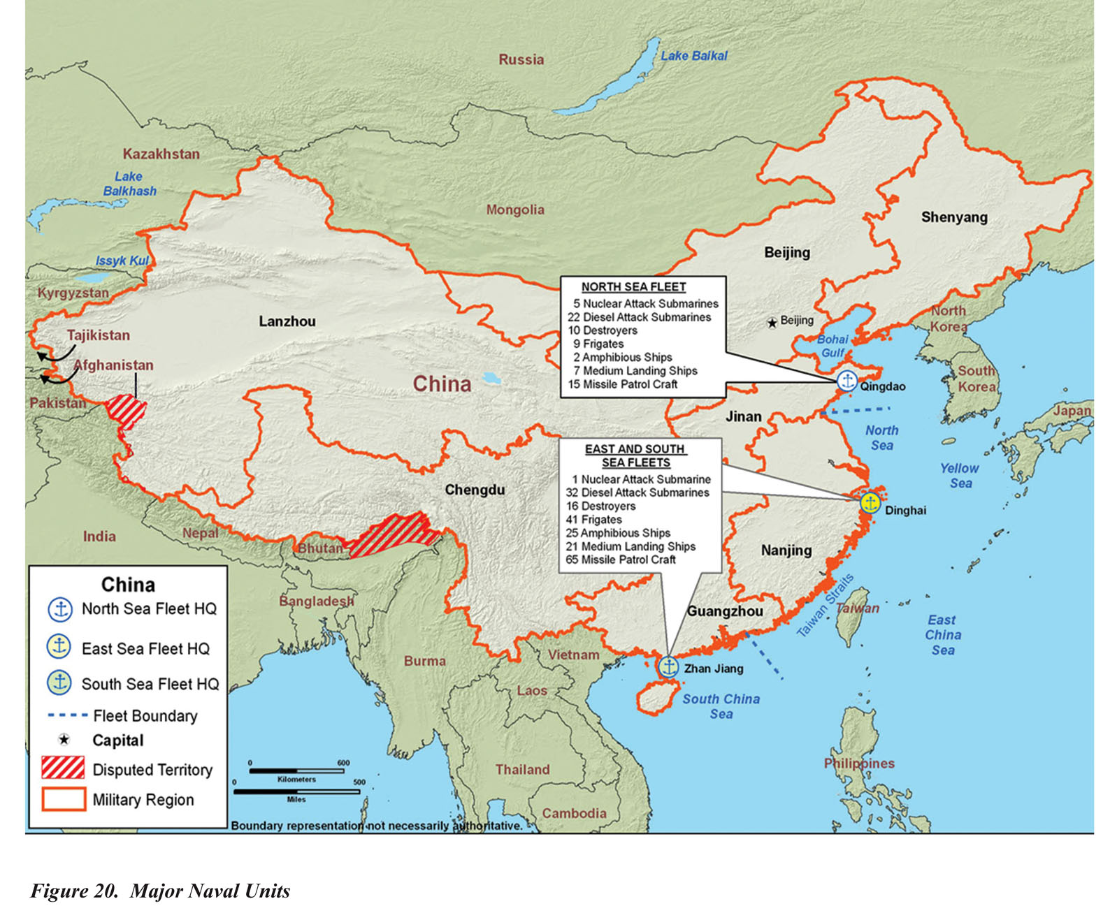 Military Power Of The Peoples Republic Of China Maps Perry - Us navy fleet locations map