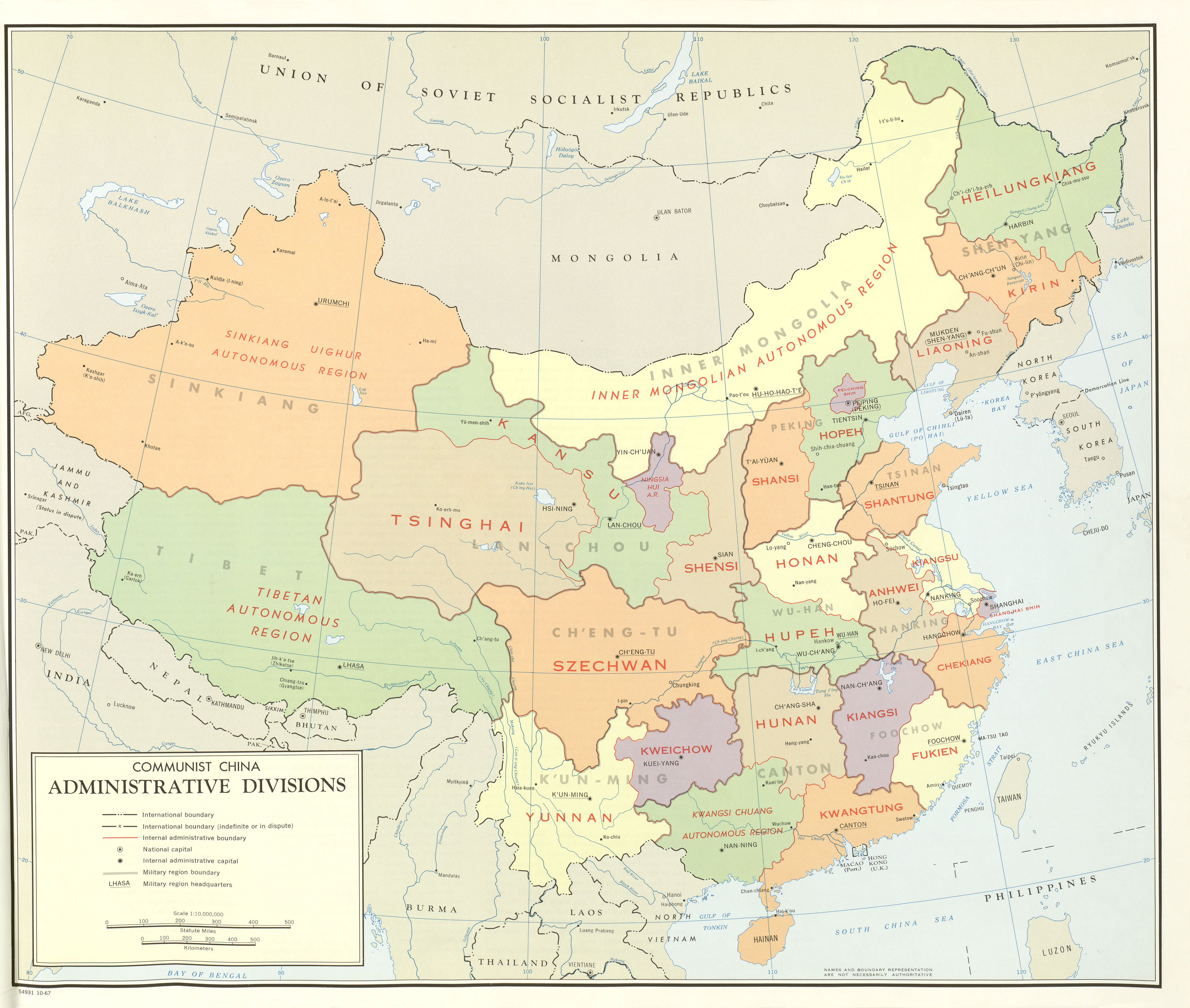 China map folio perry castaeda map collection ut library online communist china administrative divisions map gumiabroncs Image collections