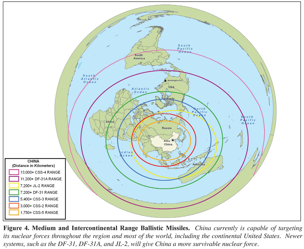 Military Power Of The Peoples Republic Of China Maps Perry - Us missiles map