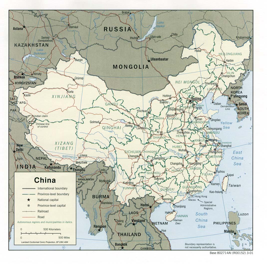 Cina Cartina Fisica Geografica.Cartine E Mappe Della Cina Hong Kong Taiwan E Macao