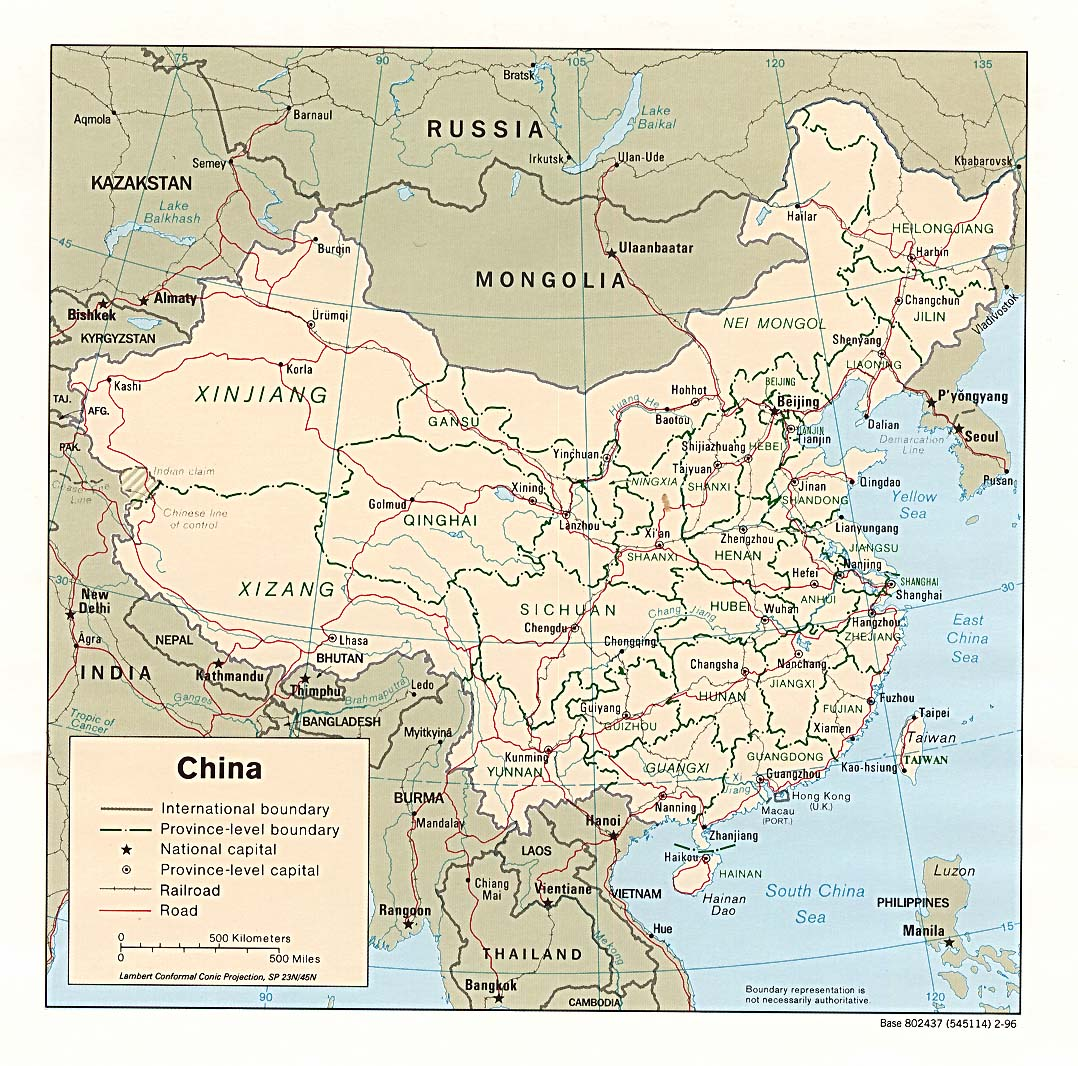 Geography Map Of Asia.Chinese Geography Readings And Maps Asia For Educators Columbia