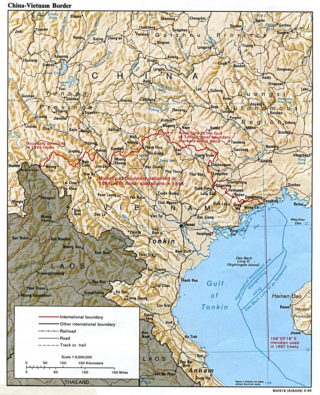 SinoVietnamese War - Map of china and vietnam